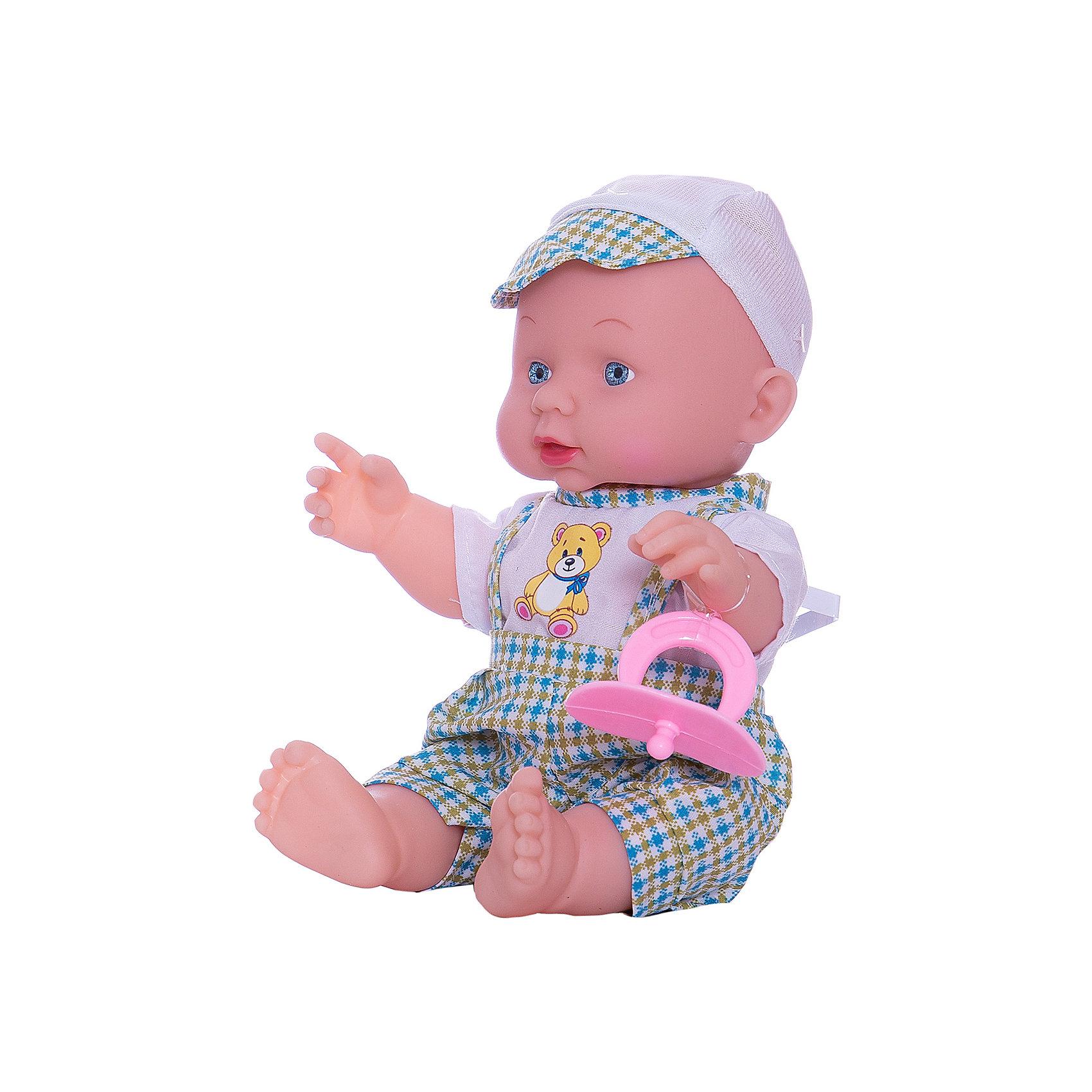 Пупс Карапуз , КарапузКуклы-пупсы<br>Этот маленький малыш понравится любой девочке! Нажмите на кнопку на животе пупса и он расскажет стихи Мишка, Зайка, Бычоки споет песенку ЛошадкаАгнии Барто. У него подвижные ручки и ножки, твердое тело. Высота пупса 25 см. Батарейки входят в комплект.<br><br>Ширина мм: 110<br>Глубина мм: 180<br>Высота мм: 210<br>Вес г: 380<br>Возраст от месяцев: 12<br>Возраст до месяцев: 60<br>Пол: Женский<br>Возраст: Детский<br>SKU: 5099098