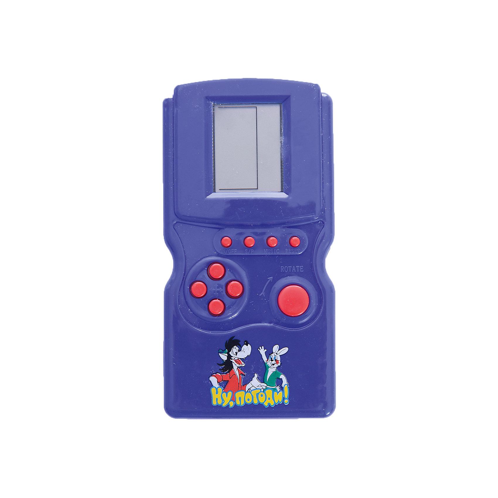 Игра электронная Тетрис Ну погоди, Играем вместеИгрушки<br>Известная игра Тетрис в дизайне популярного мультфильма Ну погодиувлечет на долгое время вашего ребенка. Каждая игра, а всего их 12, содержит десятки уровней сложности, что будет интересным для детей разного возраста.<br><br>Ширина мм: 20<br>Глубина мм: 130<br>Высота мм: 70<br>Вес г: 70<br>Возраст от месяцев: 36<br>Возраст до месяцев: 144<br>Пол: Унисекс<br>Возраст: Детский<br>SKU: 5099107