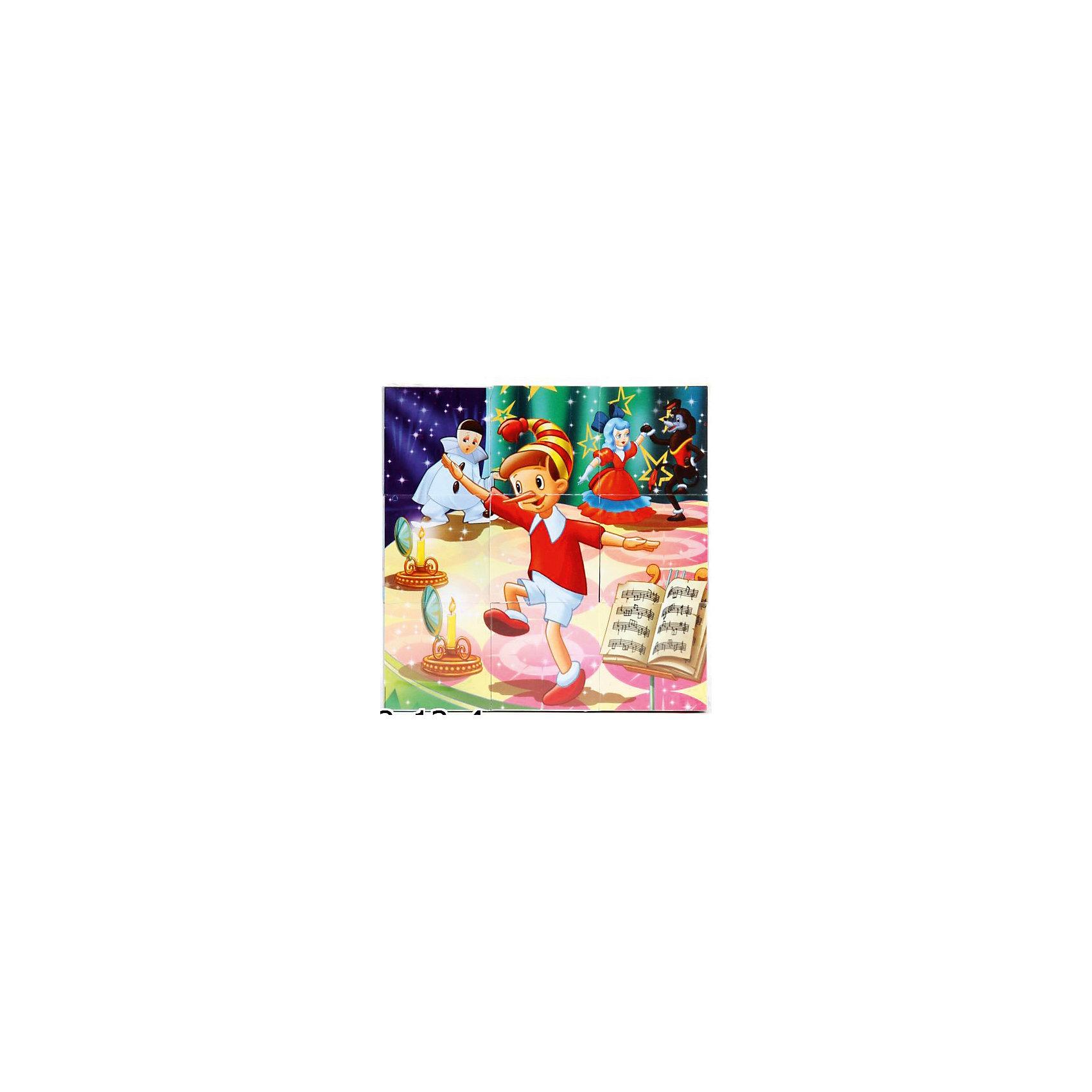 Набор кубиков, Играем вместеКубики<br>Набор пластмассовых кубиков с бумажным покрытием и изображением известных каждому ребенку сказок и  мультфильмов. В наборе 9 кубиков. Изображены моменты сказок и мульфильмов: Малыш и карлосон, Приключения Буратино, Приключения Чиполлино, Золушка, Дюймовочка, Красная шапочка.<br><br>Ширина мм: 40<br>Глубина мм: 120<br>Высота мм: 120<br>Вес г: 150<br>Возраст от месяцев: 12<br>Возраст до месяцев: 60<br>Пол: Унисекс<br>Возраст: Детский<br>SKU: 5099110