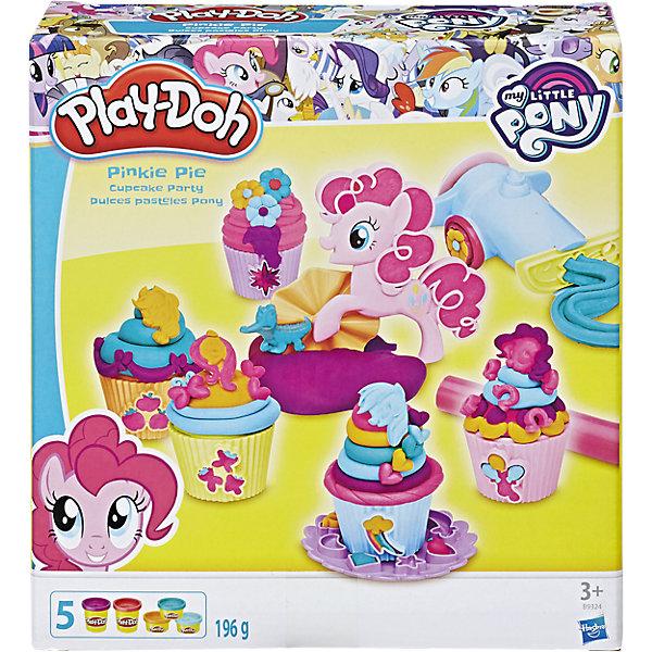 Игровой набор Вечеринка Пинки Пай, My little Pony, Play-DohНаборы для лепки<br>Игровой набор Вечеринка Пинки Пай, My little Pony, Play-Doh. <br><br>Характеристика: <br><br>• Материал: пластик, пластилин. <br>• Размер упаковки: 21x19х6 см.<br>• В комплекте: экструдер, ролик, пресс-формы, формы для кекса, 1 стандартная и 5 небольших банок пластилина .<br>• Отличная детализация. <br>• Яркий привлекательный дизайн. <br>• После окончания игры пластилин хранить в плотно закрытой банке. <br>• Лепка отлично развивает моторику рук, воображение, мышление. <br><br>Игровой набор Вечеринка Пинки Пай обязательно понравится всем поклонницам My little Pony (Моя маленькая Пони). Пинки Пай хочет приготовить вкусные капкейки для своих друзей, скорее помоги ей в этом. В наборе есть все необходимое, чтобы приготовить и украсить отличные кексики. Мягкий пластилин выполнен из высококачественных экологичных материалов при использовании только безопасных нетоксичных красителей. Тесто-пластилин Play-Doh (Плей-До) очень пластичное, хорошо смывается с рук и одежды.<br><br>Игровой набор Вечеринка Пинки Пай, My little Pony (Май литл Пони), Play-Doh, можно купить в нашем интернет-магазине.<br><br>Ширина мм: 217<br>Глубина мм: 198<br>Высота мм: 66<br>Вес г: 482<br>Возраст от месяцев: 36<br>Возраст до месяцев: 72<br>Пол: Женский<br>Возраст: Детский<br>SKU: 5099884