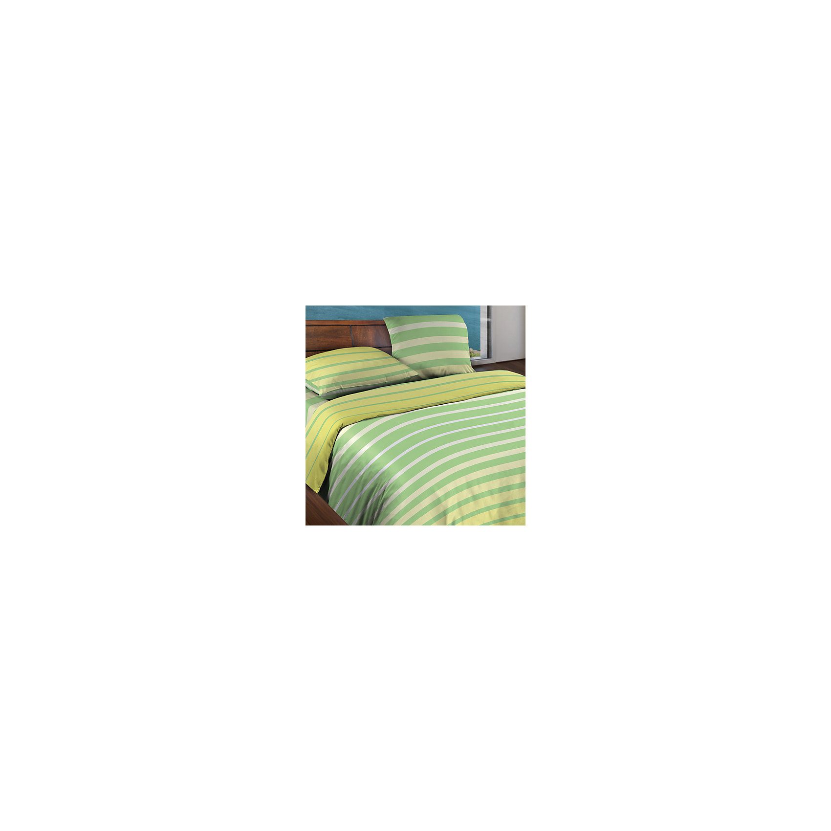 Wenge Постельное белье 2,0 сп. Stripe Lime БИО Комфорт, Wenge Motion
