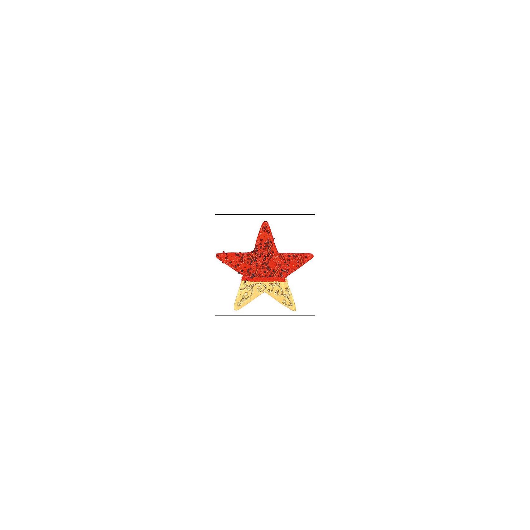 Красное с золотым украшение Звезда 11 смВсё для праздника<br>украшение ЗВЕЗДА, 11 см, 1 шт, крас с золот<br><br>Ширина мм: 120<br>Глубина мм: 10<br>Высота мм: 120<br>Вес г: 100<br>Возраст от месяцев: 36<br>Возраст до месяцев: 2147483647<br>Пол: Унисекс<br>Возраст: Детский<br>SKU: 5101016