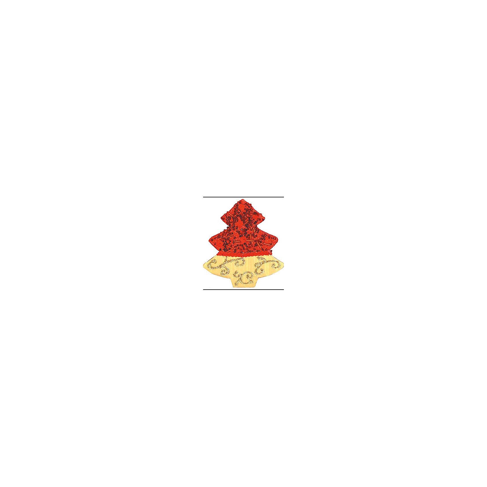 Marko Ferenzo Красное с золотым украшение Елочка 11 см marko ferenzo набор желудей 3 шт grande 4 см золотой