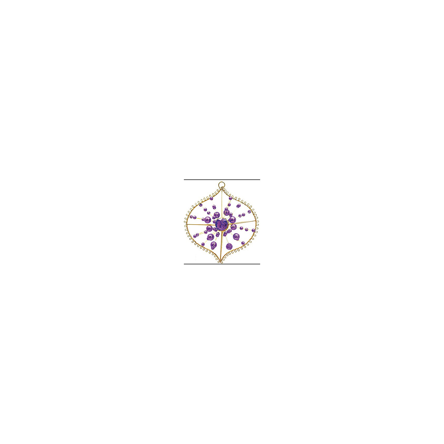 Marko Ferenzo Украшение Луковица (фиолетовый, золотой) marko ferenzo набор желудей 3 шт grande 4 см золотой