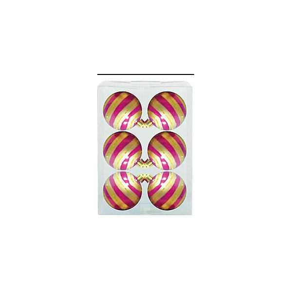набор шаров ДЕТСКИЙ 6 шт, 6 см, розов глянц с узором  золот полосаЁлочные игрушки<br>Новогодние  и елочные украшения, в т.ч. пластиковые шары, украшения фигурные, изображающие представителей флоры, фауны, сказочных персонажей, верхушки, бусы, ветки, бантики, гирлянды и фонарики  (без подключения к сети переменного тока), конфетти, мишура, дождик, серпантин,  панно, венки, ели, ленты декоративные<br><br>Ширина мм: 180<br>Глубина мм: 115<br>Высота мм: 50<br>Вес г: 12<br>Возраст от месяцев: 36<br>Возраст до месяцев: 2147483647<br>Пол: Унисекс<br>Возраст: Детский<br>SKU: 5101043