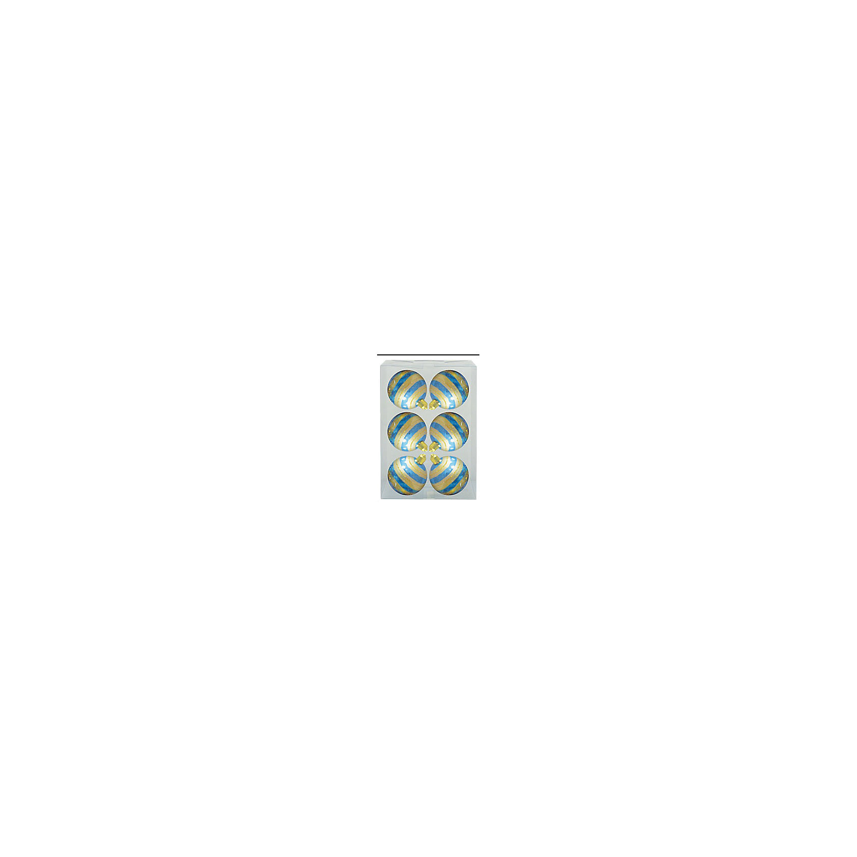 Marko Ferenzo Набор шаров Детский 6 шт, 6 см, бирюза глянцевый с узором какой препарат чтобы повысить содержание магния в организме