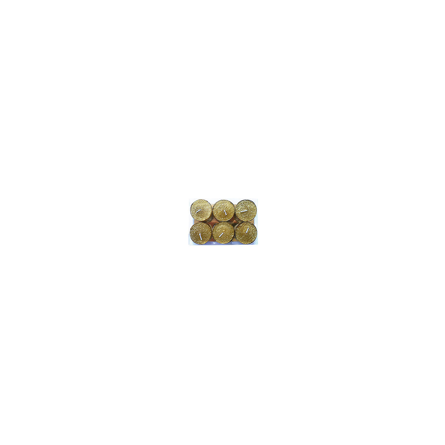 Marko Ferenzo Набор свечей 6 шт Новогодняя радость, золотой marko ferenzo набор желудей 3 шт grande 4 см золотой