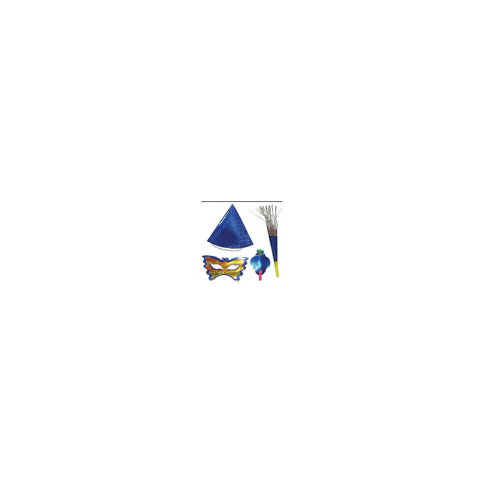 Marko Ferenzo Набор карнавальный Праздничный (колпак, маска, язычок, дудочка) marko ferenzo набор шаров русский 8 см 4 шт золото