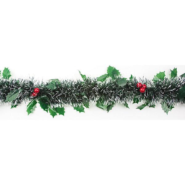Мишура Остролист зеленая, красные ягодыНовогодняя мишура и бусы<br>Новогодние  и елочные украшения, в т.ч. пластиковые шары, украшения фигурные, изображающие представителей флоры, фауны, сказочных персонажей, верхушки, бусы, ветки, бантики, гирлянды и фонарики  (без подключения к сети переменного тока), конфетти, мишура, дождик, серпантин,  панно, венки, ели, ленты декоративные<br><br>Ширина мм: 300<br>Глубина мм: 300<br>Высота мм: 50<br>Вес г: 12<br>Возраст от месяцев: 36<br>Возраст до месяцев: 2147483647<br>Пол: Унисекс<br>Возраст: Детский<br>SKU: 5101055