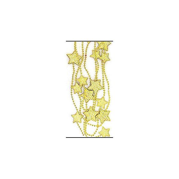 ел.укр. бусы ЗВЕЗДА бол, 2,5м золотоНовогодняя мишура и бусы<br>Характеристики:<br><br>• тип игрушки: елочное украшение;<br>• цвет: золото;<br>• размер: 24х10х2 см;<br>• бренд: Marko Ferenzo;<br>• возраст: от 3 лет;<br>• вес: 41 гр;<br>• материал: пластик.<br><br>Елочное украшение бусы «ЗВЕЗДА» со звездами станет отличным дополнением к новогодним украшениям елки или интерьера дома к праздникам. Такое украшение станет актуальным подарком, который позволит заранее подготовиться к празднованию Нового года. С помощью него ребенок сможет сам поучаствовать в подготовке к празднику и украсить дом.<br><br>Это золотые бусы из золотых звездочек разного размера. Длинна ленты – 250 см. Все элементы хорошо приклеены друг к другу качественным клеем и не оторвутся. Такую игрушку можно использовать для украшения новогодней елки или как элемент декора. Использование таких игрушек позволяет ребенку проявить свои творческие способности, пофантазировать или раскрыть талант.<br><br>Все элементы этой игрушки являются абсолютно безопасными для ребенка и изготовлены из высококачественных материалов.<br><br>Елочное украшение бусы «ЗВЕЗДА» со звездами можно купить в нашем интернет-магазине.<br><br>Ширина мм: 240<br>Глубина мм: 100<br>Высота мм: 20<br>Вес г: 41<br>Возраст от месяцев: 36<br>Возраст до месяцев: 2147483647<br>Пол: Унисекс<br>Возраст: Детский<br>SKU: 5101058