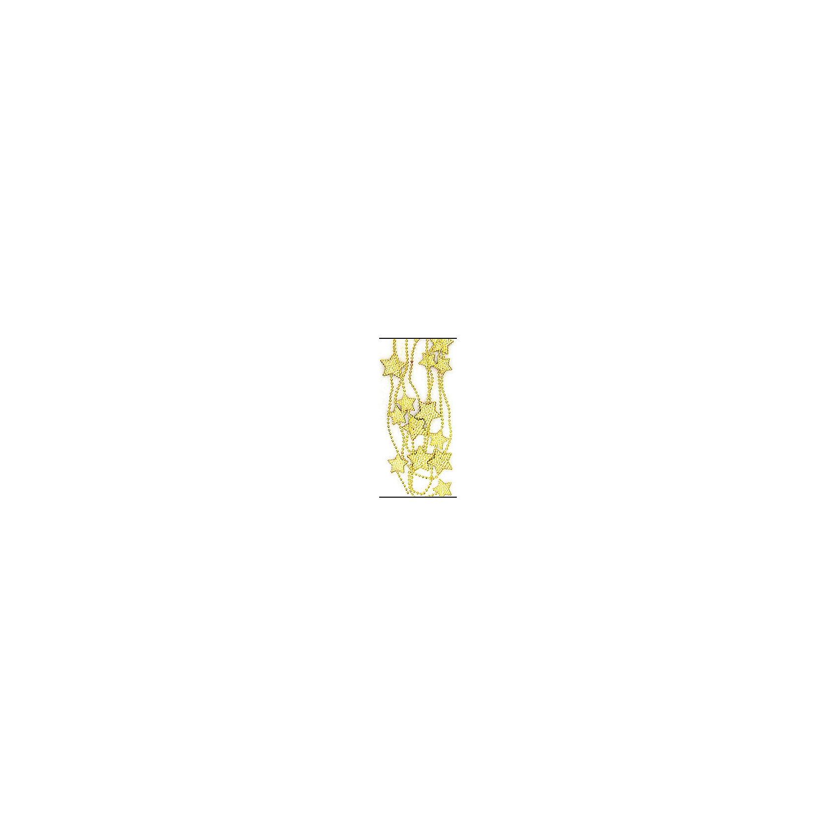 Бусы Звезда 2,5м золотойВсё для праздника<br>Изготовлено из пластмассы. ел.укр. бусы ЗВЕЗДА бол, 2,5м золото<br><br>Ширина мм: 200<br>Глубина мм: 200<br>Высота мм: 10<br>Вес г: 100<br>Возраст от месяцев: 36<br>Возраст до месяцев: 2147483647<br>Пол: Унисекс<br>Возраст: Детский<br>SKU: 5101058