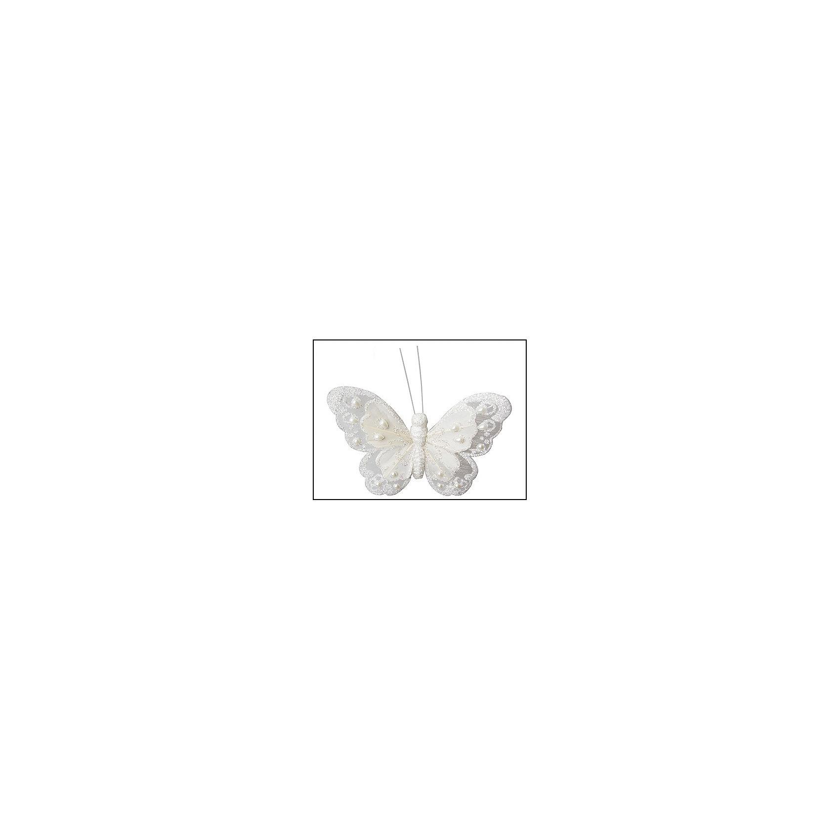 Украшение Бабочка белыйВсё для праздника<br>Изготовлено из пластмассы, полифоума. ёл. укр.Classic White бабочка, 11см, белый<br><br>Ширина мм: 110<br>Глубина мм: 110<br>Высота мм: 20<br>Вес г: 100<br>Возраст от месяцев: 36<br>Возраст до месяцев: 2147483647<br>Пол: Унисекс<br>Возраст: Детский<br>SKU: 5101062