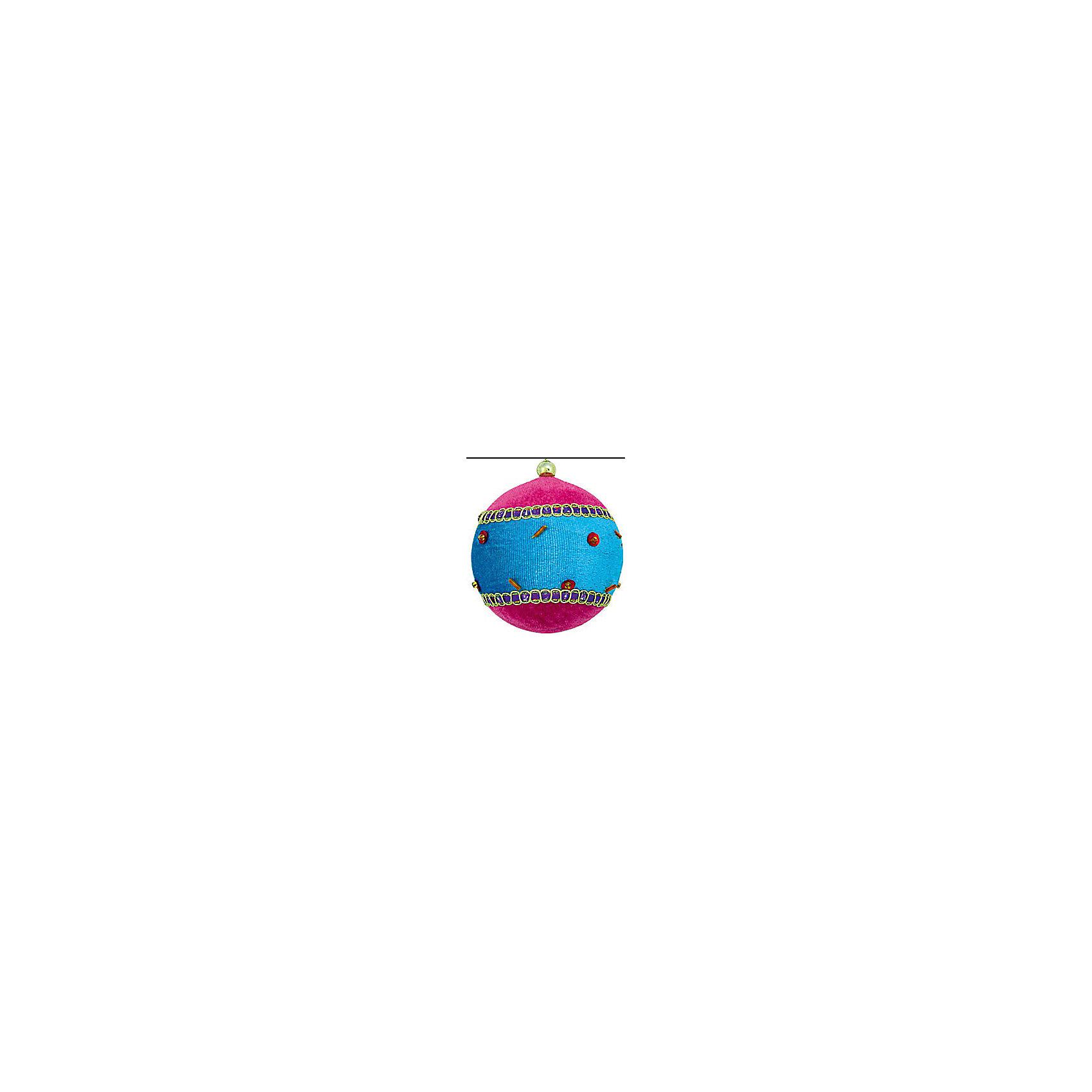 Marko Ferenzo Украшение шар Детский флок, 9 см, розовый и лазурь