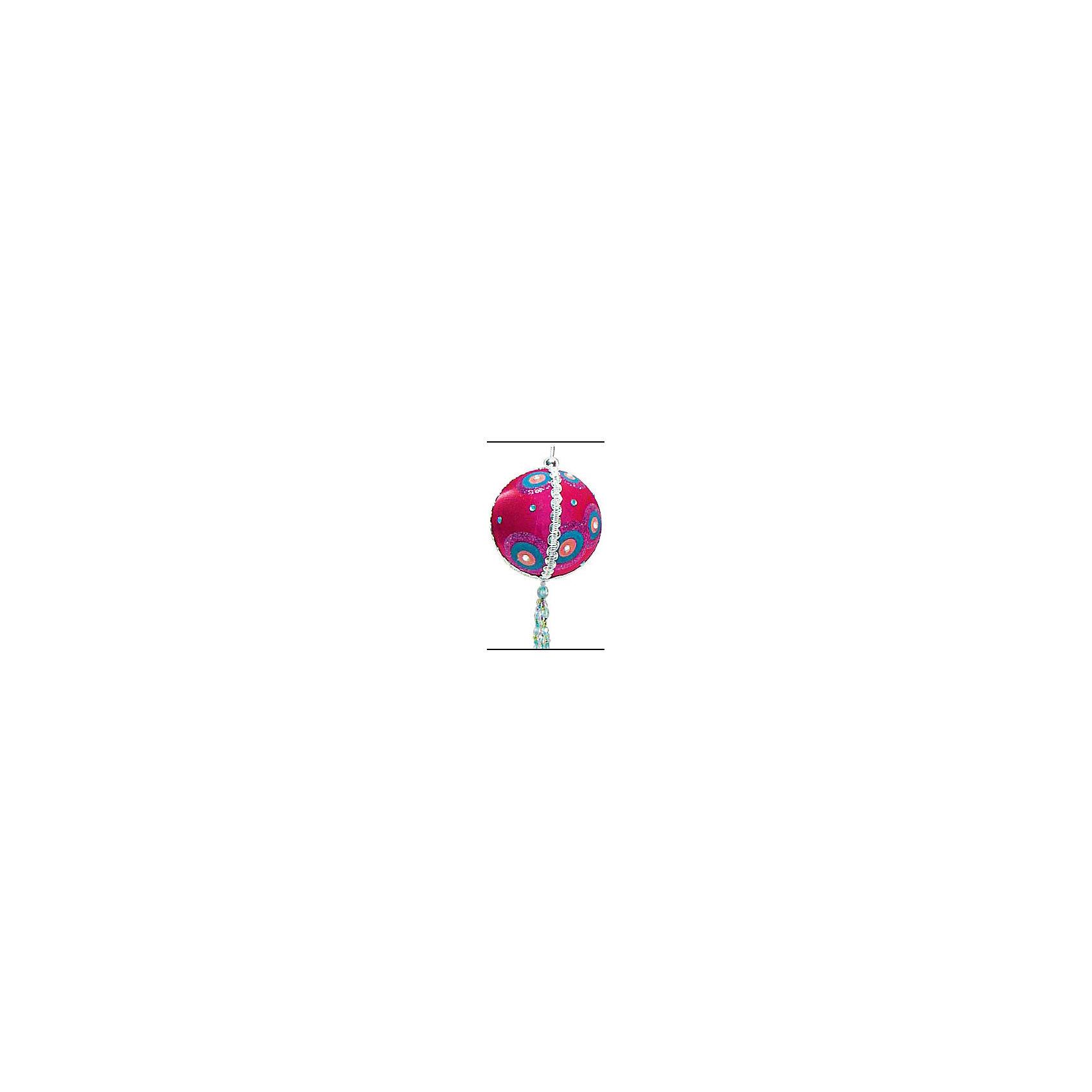 Marko Ferenzo Украшение шар Детская флок, 9 см, малиновый