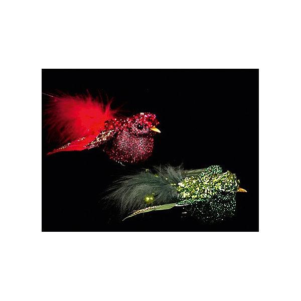 Украшение на клипе GRANDE птица, в ассортиментеЁлочные игрушки<br>ёл. укр. на клипе  GRANDE птица, ассорт.,7х9х3,5см, 1шт, красный, зеленый<br><br>Ширина мм: 70<br>Глубина мм: 90<br>Высота мм: 35<br>Вес г: 100<br>Возраст от месяцев: 36<br>Возраст до месяцев: 2147483647<br>Пол: Унисекс<br>Возраст: Детский<br>SKU: 5101085