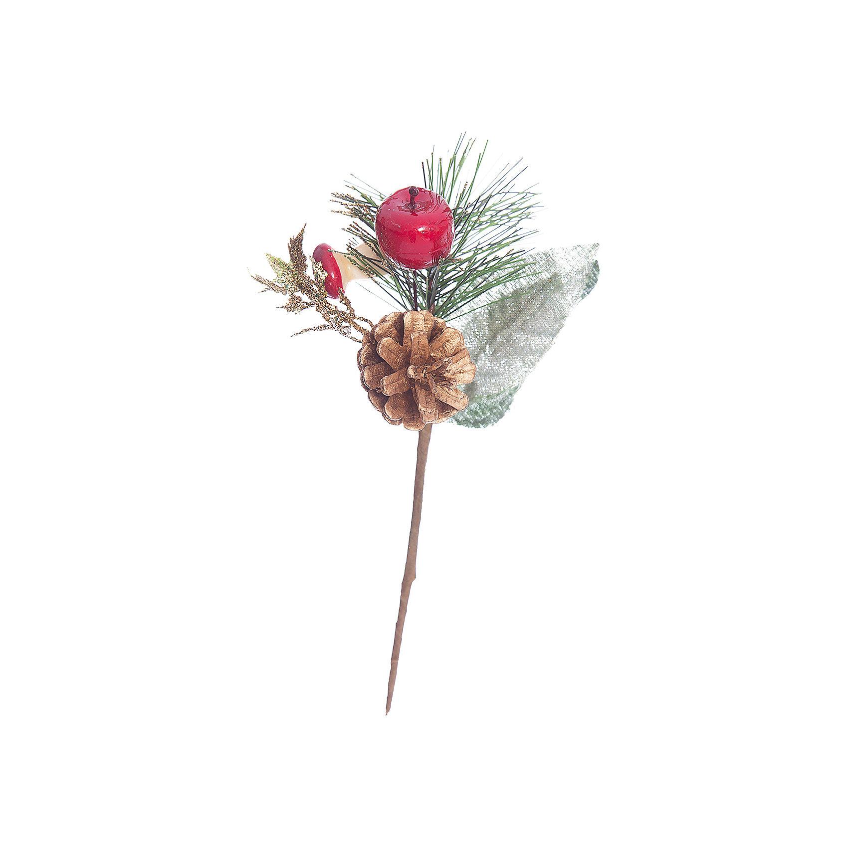 Украшение Веточка 7х10 см, 1шт, ягоды и шишкиИзготовлено из пластмассы, полимерных материалов. ёл. укр. веточка, 7х10см, 1шт, ягоды, шишки<br><br>Ширина мм: 100<br>Глубина мм: 70<br>Высота мм: 70<br>Вес г: 100<br>Возраст от месяцев: 36<br>Возраст до месяцев: 2147483647<br>Пол: Унисекс<br>Возраст: Детский<br>SKU: 5101086