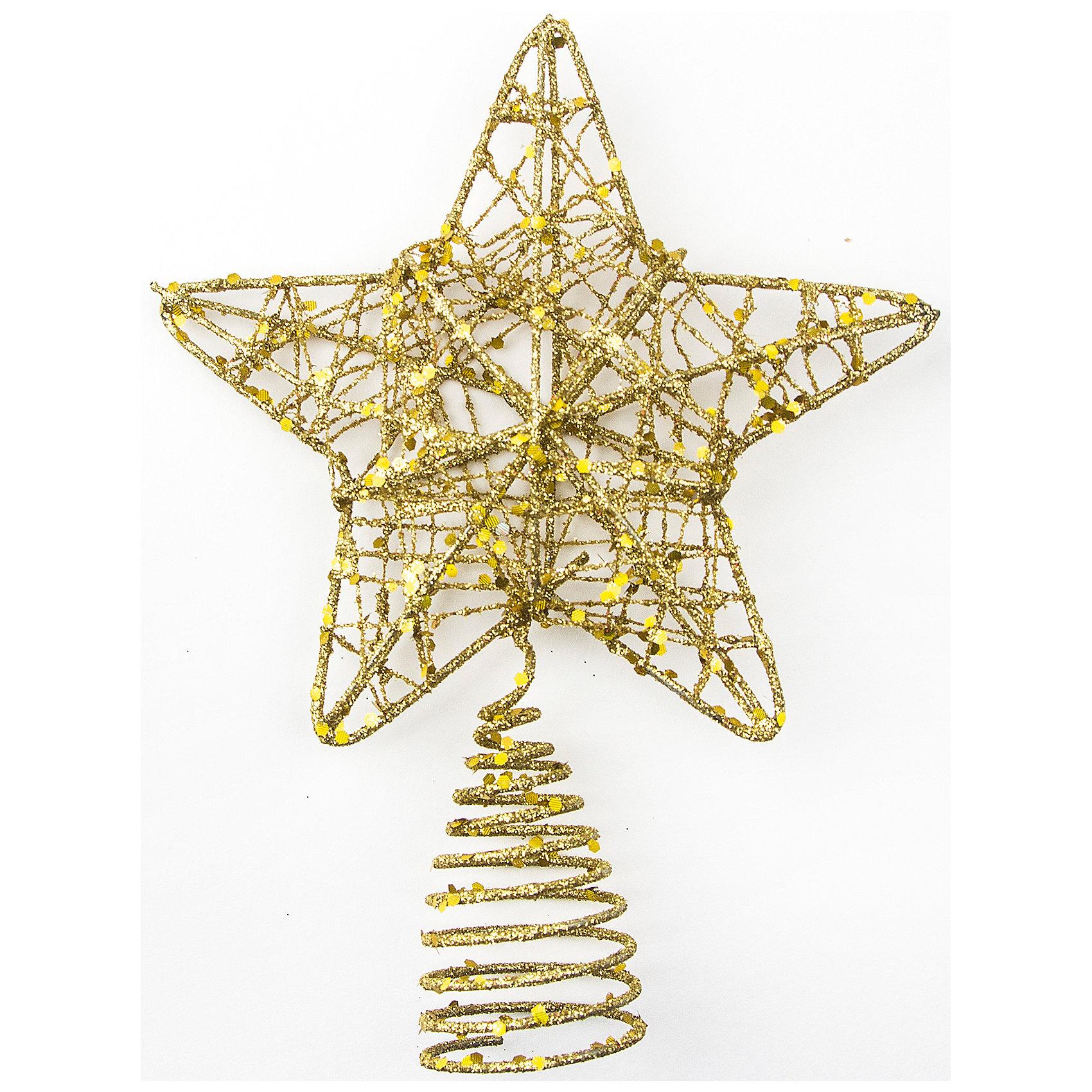 Верхушка Плетеная звезда, Classic Gold 12 см, золотоВсё для праздника<br>Изготовлено из металла, полимерных материалов. ёл. укр. Верхушка плетеная звезда Classic Gold 12 см, золото<br><br>Ширина мм: 180<br>Глубина мм: 50<br>Высота мм: 120<br>Вес г: 100<br>Возраст от месяцев: 36<br>Возраст до месяцев: 2147483647<br>Пол: Унисекс<br>Возраст: Детский<br>SKU: 5101089