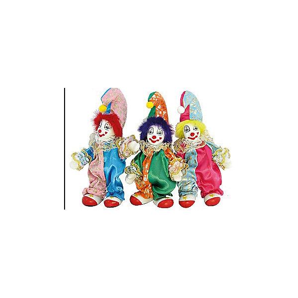 cувенир КЛОУН веселый 11,43 см 3 вида в ассорт.Новогодние сувениры<br>Новогодние  и елочные украшения, в т.ч. пластиковые шары, украшения фигурные, изображающие представителей флоры, фауны, сказочных персонажей, верхушки, бусы, ветки, бантики, гирлянды и фонарики  (без подключения к сети переменного тока), конфетти, мишура, дождик, серпантин,  панно, венки, ели, ленты декоративные<br><br>Ширина мм: 70<br>Глубина мм: 40<br>Высота мм: 130<br>Вес г: 47<br>Возраст от месяцев: 36<br>Возраст до месяцев: 2147483647<br>Пол: Унисекс<br>Возраст: Детский<br>SKU: 5101107
