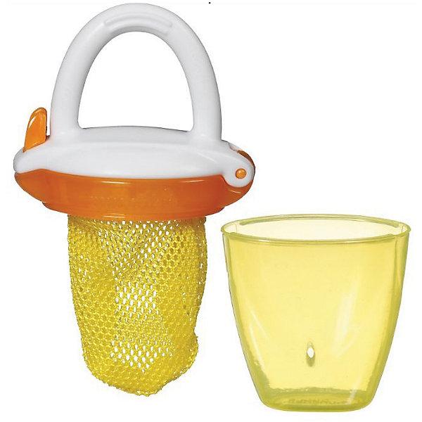 Ниблер Deluxe, Munchkin, желтыйНиблеры<br>Ниблер Deluxe, Munchkin, желтый<br><br>Характеристики:<br><br>• Цвет: желтый<br>• Материал: пластик<br>• Не содержит бисфенол А<br>• От 6 месяцев<br><br>Красивый и полностью безопасный ниблер сделан из качественных материалов, которые не содержат вредных веществ. Отлично подходят для введения прикорма: кусочков фруктов, овощей, печенья и даже мяса. Через специальную сеточку проходят лишь самые маленькие кусочки, что снижает риск подавиться. Кроме этого ниблер может послужить прорезывателем для зубов. Удобная ручка не выскальзывает из маленьких рук ребенка и помогает ему самостоятельно учиться кушать. Есть крышечка в комплекте. Ниблер легко чистить.<br><br>Ниблер Deluxe, Munchkin, желтый можно купить в нашем интернет-магазине.<br><br>Ширина мм: 50<br>Глубина мм: 200<br>Высота мм: 100<br>Вес г: 50<br>Возраст от месяцев: 6<br>Возраст до месяцев: 12<br>Пол: Унисекс<br>Возраст: Детский<br>SKU: 5101191