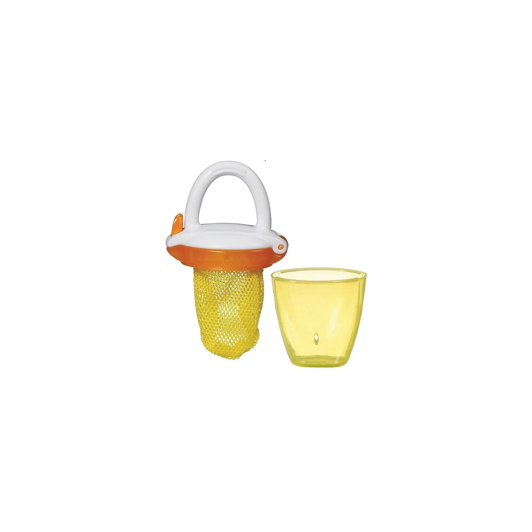 Ниблер Deluxe, Munchkin, желтыйНиблер Deluxe, Munchkin, желтый<br><br>Характеристики:<br><br>• Цвет: желтый<br>• Материал: пластик<br>• Не содержит бисфенол А<br>• От 6 месяцев<br><br>Красивый и полностью безопасный ниблер сделан из качественных материалов, которые не содержат вредных веществ. Отлично подходят для введения прикорма: кусочков фруктов, овощей, печенья и даже мяса. Через специальную сеточку проходят лишь самые маленькие кусочки, что снижает риск подавиться. Кроме этого ниблер может послужить прорезывателем для зубов. Удобная ручка не выскальзывает из маленьких рук ребенка и помогает ему самостоятельно учиться кушать. Есть крышечка в комплекте. Ниблер легко чистить.<br><br>Ниблер Deluxe, Munchkin, желтый можно купить в нашем интернет-магазине.<br><br>Ширина мм: 50<br>Глубина мм: 200<br>Высота мм: 100<br>Вес г: 50<br>Возраст от месяцев: 6<br>Возраст до месяцев: 12<br>Пол: Унисекс<br>Возраст: Детский<br>SKU: 5101191