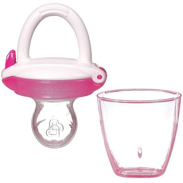 Ниблер для детского питания, Munchkin, розовыйНиблеры<br>Ниблер для детского питания, Munchkin, розовый<br><br>Характеристики:<br><br>• Материал: пластик, силикон<br>• Не содержит бисфенол А<br>• От 4 месяцев<br><br>Красивый и полностью безопасный ниблер сделан из качественных материалов, которые не содержат вредных веществ. Отлично подходят для введения прикорма: кусочков фруктов, овощей, печенья и даже мяса. Силиконовая часть, в которую помещены кусочки фруктов и овощей, пропускает еду в виде пюре. Это помогает на первоначальных этапах прикорма. Кроме этого ниблер может послужить прорезывателем для зубов. Удобная ручка не выскальзывает из маленьких рук ребенка и помогает ему самостоятельно учиться кушать. Есть крышечка в комплекте. Ниблер легко чистить.<br><br>Ниблер для детского питания, Munchkin, розовый можно купить в нашем интернет-магазине.<br>Ширина мм: 50; Глубина мм: 200; Высота мм: 100; Вес г: 50; Возраст от месяцев: 4; Возраст до месяцев: 12; Пол: Унисекс; Возраст: Детский; SKU: 5101193;