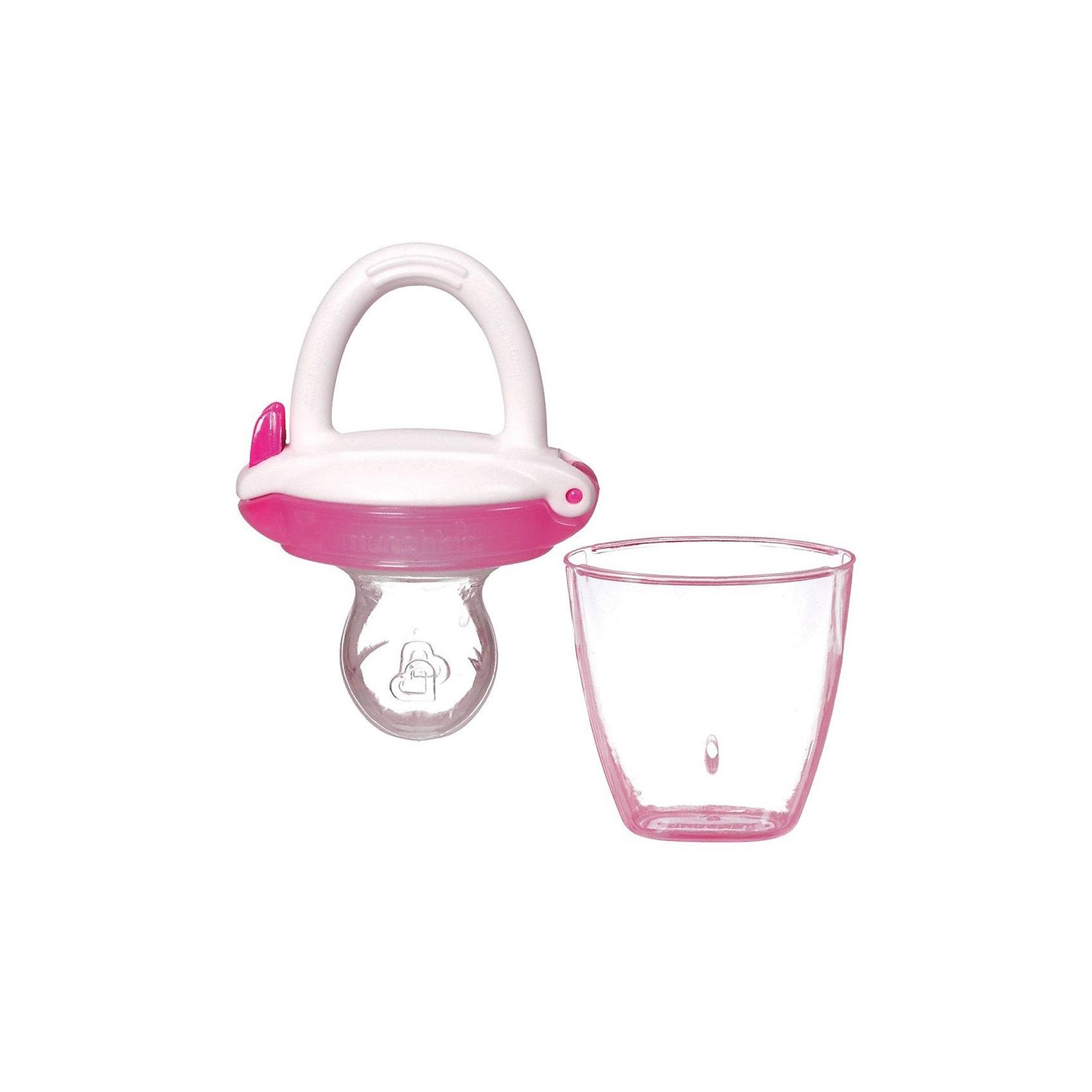 Ниблер для детского питания, Munchkin, розовыйПосуда для малышей<br>Ниблер для детского питания, Munchkin, красный<br><br>Характеристики:<br><br>• Цвет: красный<br>• Материал: пластик, силикон<br>• Не содержит бисфенол А<br>• От 4 месяцев<br><br>Красивый и полностью безопасный ниблер сделан из качественных материалов, которые не содержат вредных веществ. Отлично подходят для введения прикорма: кусочков фруктов, овощей, печенья и даже мяса. Силиконовая часть, в которую помещены кусочки фруктов и овощей, пропускает еду в виде пюре. Это помогает на первоначальных этапах прикорма. Кроме этого ниблер может послужить прорезывателем для зубов. Удобная ручка не выскальзывает из маленьких рук ребенка и помогает ему самостоятельно учиться кушать. Есть крышечка в комплекте. Ниблер легко чистить.<br><br>Ниблер для детского питания, Munchkin, красный можно купить в нашем интернет-магазине.<br><br>Ширина мм: 50<br>Глубина мм: 200<br>Высота мм: 100<br>Вес г: 50<br>Возраст от месяцев: 4<br>Возраст до месяцев: 12<br>Пол: Унисекс<br>Возраст: Детский<br>SKU: 5101193