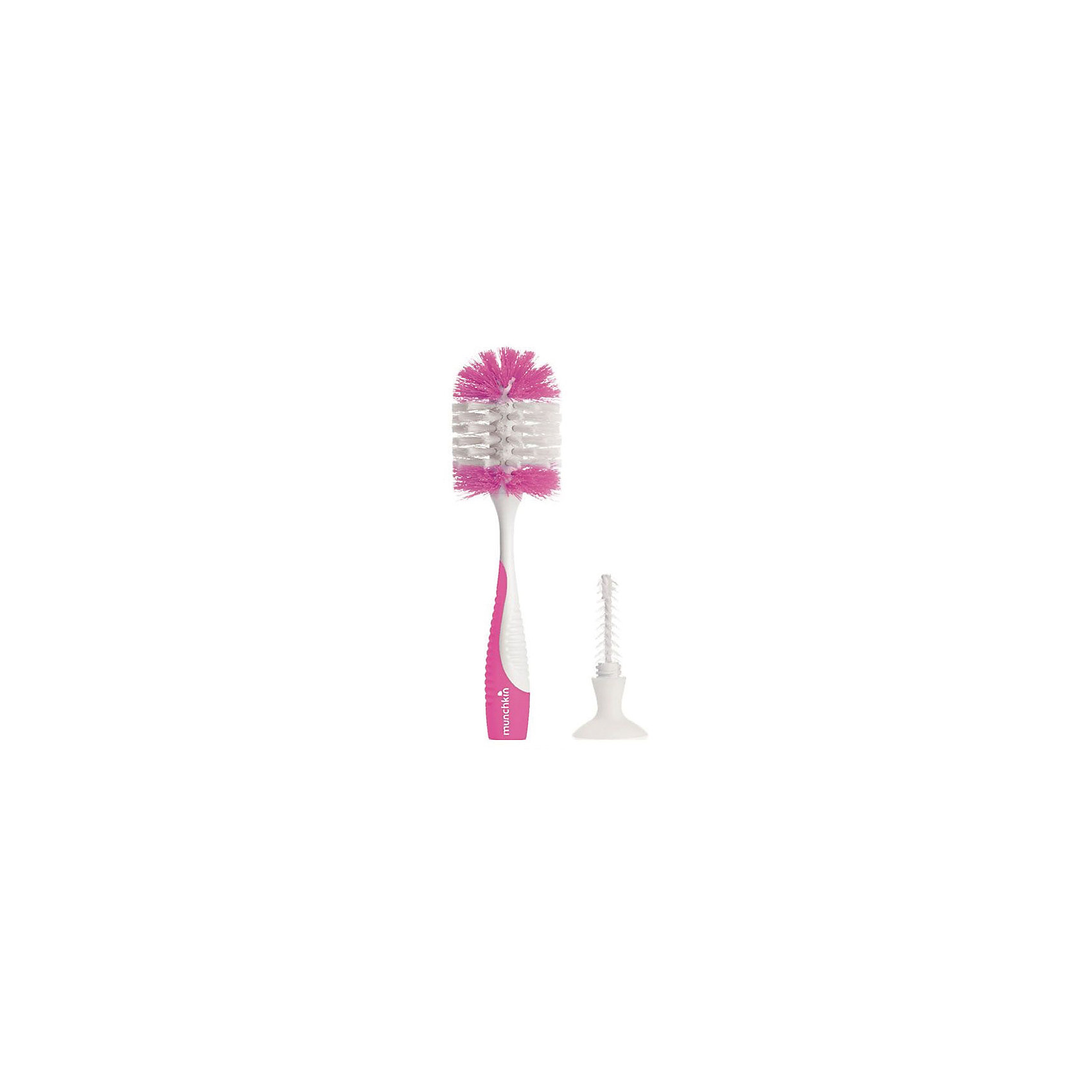 Ершик для бутылочек и сосок, Munchkin, розовыйБутылочки и аксессуары<br>Ершик для бутылочек и сосок, Munchkin, розовый<br><br>Характеристики:<br><br>• Цвет: красный<br>• Не содержит бисфенол А<br>• Материал: пластик, нейлон<br><br>Ершик для бутылочек и сосок незаменимая вещь для родителей малыша. Он достигает с легкостью все труднодоступные места и не позволяет микробам оставаться. Благодаря качественным материалам, не содержащим вредных веществ, ершик полностью безопасен для детей. Подходит как для стандартных бутылочек,  так и бутылочек с угловым или широким горлышком. Ершик для соски находится в рукоятке. С помощью присосок ершик стоит вертикально, что дополнительно защищает его от грязи и бактерий. Можно мыть в посудомоечной машине.<br><br>Ершик для бутылочек и сосок, Munchkin, красный можно купить в нашем интернет-магазине.<br><br>Ширина мм: 70<br>Глубина мм: 110<br>Высота мм: 220<br>Вес г: 100<br>Возраст от месяцев: 0<br>Возраст до месяцев: 36<br>Пол: Унисекс<br>Возраст: Детский<br>SKU: 5101196