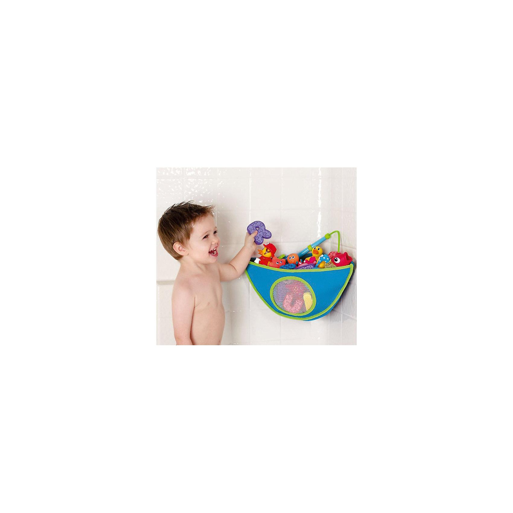 munchkin Органайзер для игрушек в ванной, Munchkin, голубой черная плитка для ванной купить