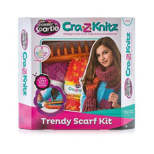 Набор для вязания Cra-Z-Knitz - ШарфШерсть<br>Характеристики:<br><br>• Предназначение: для занятий рукоделием<br>• Пол: для девочки<br>• Материал: пластик, пряжа, металл<br>• Цвет: в ассортименте<br>• Комплектация: прямоугольный станок, 2 мотка акриловых ниток разного цвета, крючок, вязальная игра, инструкция<br>• Размеры (Д*Ш*В): 5*28*30,5 см<br>• Вес: 312 г <br>• Упаковка: картонная коробка с блистером<br><br>Cra-z-knitz Набор для вязания. Шарф – это набор от торгового бренда Cra-Z-Art, который всемирно знаменит своими канцелярскими товарами и оригинальными наборами для творчества. Cra-Z-Art предлагает совершенно новый взгляд на один из самых трудоемких видов рукоделия – вязание. Теперь научиться вязать может каждый и в этом ему поможет вязальная станция. Вязальная станция представляет собой специализированные приспособления – лумы, на которых вывязывается полотно с помощью крючка. Набор включает в себя круглый лум для вязки различных изделий. В комплекте предусмотрен набор их двух мотков акриловых ниток разного цвета. Все материалы, из которых изготовлены детали и элементы набора отвечают международным стандартам безопасности. Для более легкого освоения технологии вязания с помощью лумов предусмотрена подробная инструкция со схемами.<br>Занятия рукоделием способствуют развитию мелкой моторики, учат внимательности, сосредоточенности и усидчивости, также вязание формирует чувство стиля и вкуса. <br><br>Cra-z-knitz Набор для вязания. Шарф можно купить в нашем интернет-магазине.<br><br>Ширина мм: 50<br>Глубина мм: 280<br>Высота мм: 305<br>Вес г: 312<br>Возраст от месяцев: 72<br>Возраст до месяцев: 168<br>Пол: Женский<br>Возраст: Детский<br>SKU: 5103465