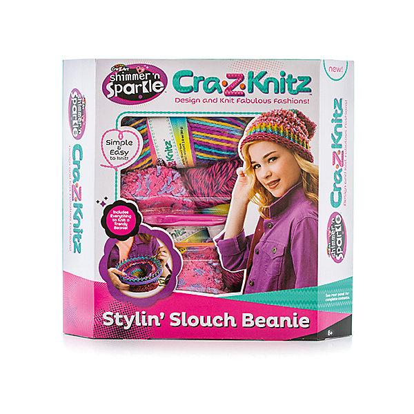 Набор для вязания Cra-z-knitz - Стильная шапка-колпакШерсть<br>Характеристики:<br><br>• Предназначение: для занятий рукоделием<br>• Пол: для девочки<br>• Материал: пластик, пряжа, металл<br>• Цвет: в ассортименте<br>• Комплектация: круглый станок, 3 мотка акриловых ниток разного цвета, крючок, вязальная игра, инструкция<br>• Размеры (Д*Ш*В): 5*28*30,5 см<br>• Вес: 312 г <br>• Упаковка: картонная коробка с блистером<br><br>Cra-z-knitz Набор для вязания. Шапка-колпак – это набор от торгового бренда Cra-Z-Art, который всемирно знаменит своими канцелярскими товарами и оригинальными наборами для творчества. Cra-Z-Art предлагает совершенно новый взгляд на один из самых трудоемких видов рукоделия – вязание. Теперь научиться вязать может каждый и в этом ему поможет вязальная станция. Вязальная станция представляет собой специализированные приспособления – лумы, на которых вывязывается полотно с помощью крючка. Набор включает в себя круглый лум для вязки различных изделий. В комплекте предусмотрен набор их трех мотков акриловых ниток разного цвета. Все материалы, из которых изготовлены детали и элементы набора отвечают международным стандартам безопасности. Для более легкого освоения технологии вязания с помощью лумов предусмотрена подробная инструкция со схемами.<br>Занятия рукоделием способствуют развитию мелкой моторики, учат внимательности, сосредоточенности и усидчивости, также вязание формирует чувство стиля и вкуса. <br><br>Cra-z-knitz Набор для вязания. Шапка-колпак можно купить в нашем интернет-магазине.<br><br>Ширина мм: 50<br>Глубина мм: 280<br>Высота мм: 305<br>Вес г: 312<br>Возраст от месяцев: 72<br>Возраст до месяцев: 168<br>Пол: Женский<br>Возраст: Детский<br>SKU: 5103467