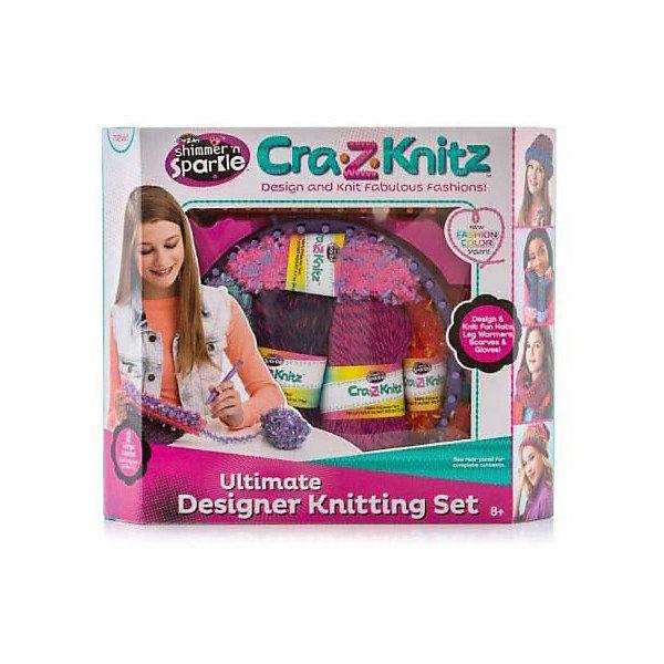 Набор для вязания Cra-Z-Knitz - Вязальная станция, средняяШерсть<br>Характеристики:<br><br>• Предназначение: для занятий рукоделием<br>• Пол: для девочки<br>• Материал: пластик, пряжа, металл<br>• Цвет: в ассортименте<br>• Комплектация: круглый станок, прямоугольный станок, 3 мотка акриловых ниток разного цвета, крючок, вязальная игра, инструкция<br>• Размеры (Д*Ш*В): 8*30,5*35,5 см<br>• Вес: 199 г <br>• Упаковка: картонная коробка с блистером<br><br>Cra-Z-Knitz Вязальная станция средняя – это набор от торгового бренда Cra-Z-Art, который всемирно знаменит своими канцелярскими товарами и оригинальными наборами для творчества. Cra-Z-Art предлагает совершенно новый взгляд на один из самых трудоемких видов рукоделия – вязание. Теперь научиться вязать может каждый и в этом ему поможет вязальная станция. Вязальная станция представляет собой специализированные приспособления – лумы, на которых вывязывается полотно с помощью крючка. Набор включает в себя два вида лумов – круглой и прямоугольной формы для вязки различных изделий. В комплекте предусмотрен набор их трех мотков акриловых ниток разного цвета. Все материалы, из которых изготовлены детали и элементы набора отвечают международным стандартам безопасности. Для более легкого освоения технологии вязания с помощью лумов предусмотрена подробная инструкция со схемами.<br>Занятия рукоделием способствуют развитию мелкой моторики, учат внимательности, сосредоточенности и усидчивости, также вязание формирует чувство стиля и вкуса. <br><br>Cra-Z-Knitz Вязальную станцию среднюю можно купить в нашем интернет-магазине.<br>Ширина мм: 80; Глубина мм: 305; Высота мм: 355; Вес г: 199; Возраст от месяцев: 72; Возраст до месяцев: 168; Пол: Женский; Возраст: Детский; SKU: 5103468;