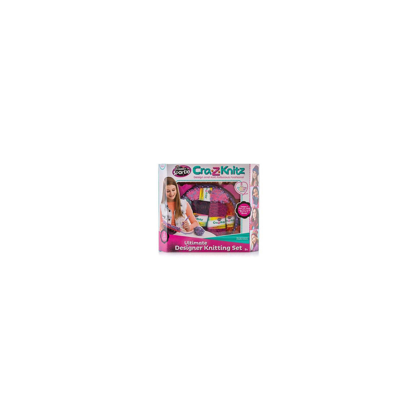 Набор для вязания Cra-Z-Knitz - Вязальная станция, средняяХарактеристики:<br><br>• Предназначение: для занятий рукоделием<br>• Пол: для девочки<br>• Материал: пластик, пряжа, металл<br>• Цвет: в ассортименте<br>• Комплектация: круглый станок, прямоугольный станок, 3 мотка акриловых ниток разного цвета, крючок, вязальная игра, инструкция<br>• Размеры (Д*Ш*В): 8*30,5*35,5 см<br>• Вес: 199 г <br>• Упаковка: картонная коробка с блистером<br><br>Cra-Z-Knitz Вязальная станция средняя – это набор от торгового бренда Cra-Z-Art, который всемирно знаменит своими канцелярскими товарами и оригинальными наборами для творчества. Cra-Z-Art предлагает совершенно новый взгляд на один из самых трудоемких видов рукоделия – вязание. Теперь научиться вязать может каждый и в этом ему поможет вязальная станция. Вязальная станция представляет собой специализированные приспособления – лумы, на которых вывязывается полотно с помощью крючка. Набор включает в себя два вида лумов – круглой и прямоугольной формы для вязки различных изделий. В комплекте предусмотрен набор их трех мотков акриловых ниток разного цвета. Все материалы, из которых изготовлены детали и элементы набора отвечают международным стандартам безопасности. Для более легкого освоения технологии вязания с помощью лумов предусмотрена подробная инструкция со схемами.<br>Занятия рукоделием способствуют развитию мелкой моторики, учат внимательности, сосредоточенности и усидчивости, также вязание формирует чувство стиля и вкуса. <br><br>Cra-Z-Knitz Вязальную станцию среднюю можно купить в нашем интернет-магазине.<br><br>Ширина мм: 80<br>Глубина мм: 305<br>Высота мм: 355<br>Вес г: 199<br>Возраст от месяцев: 72<br>Возраст до месяцев: 168<br>Пол: Женский<br>Возраст: Детский<br>SKU: 5103468