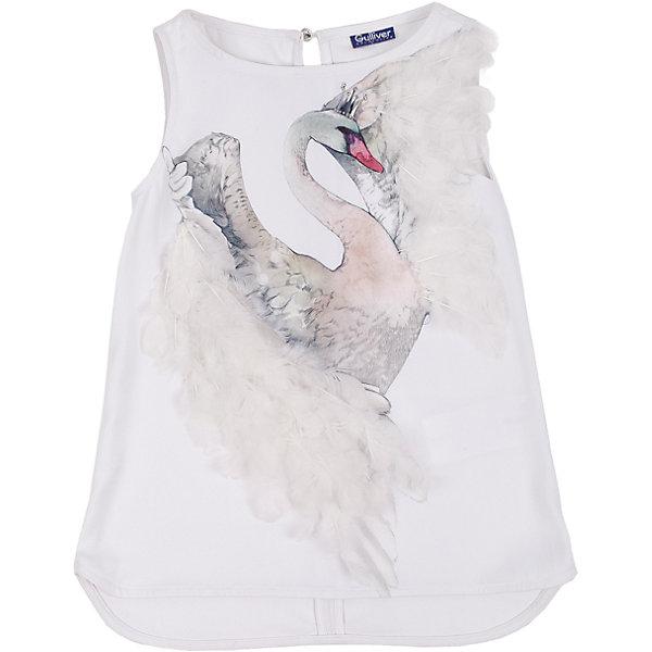 Блузка для девочки GulliverБлузки и рубашки<br>Блузка для девочки от известного бренда Gulliver.<br>Подготовка к празднику - приятные хлопоты! Если вы хотите сделать праздничный день радостным и ярким, вам стоит купить элегантную белую блузку с нежным  декором. Блузка оформлена интересным акварельным принтом, расшитым натуральными перьями. В нем легкость птичьего полета, грациозность, изящество. Конечно, такая вещь требует деликатного отношения, но ведь и праздники случаются не каждый день? Эта модель - лучший выбор блузки для девочки. Она сделает образ ребенка нежным, утонченным, изысканным.<br>Состав:<br>верх: 100% полиэстер; подкладка: 76% вискоза 19% полиэстер 5% эластан<br><br>Ширина мм: 186<br>Глубина мм: 87<br>Высота мм: 198<br>Вес г: 197<br>Цвет: белый<br>Возраст от месяцев: 132<br>Возраст до месяцев: 144<br>Пол: Женский<br>Возраст: Детский<br>Размер: 152,158,164,146<br>SKU: 5103519