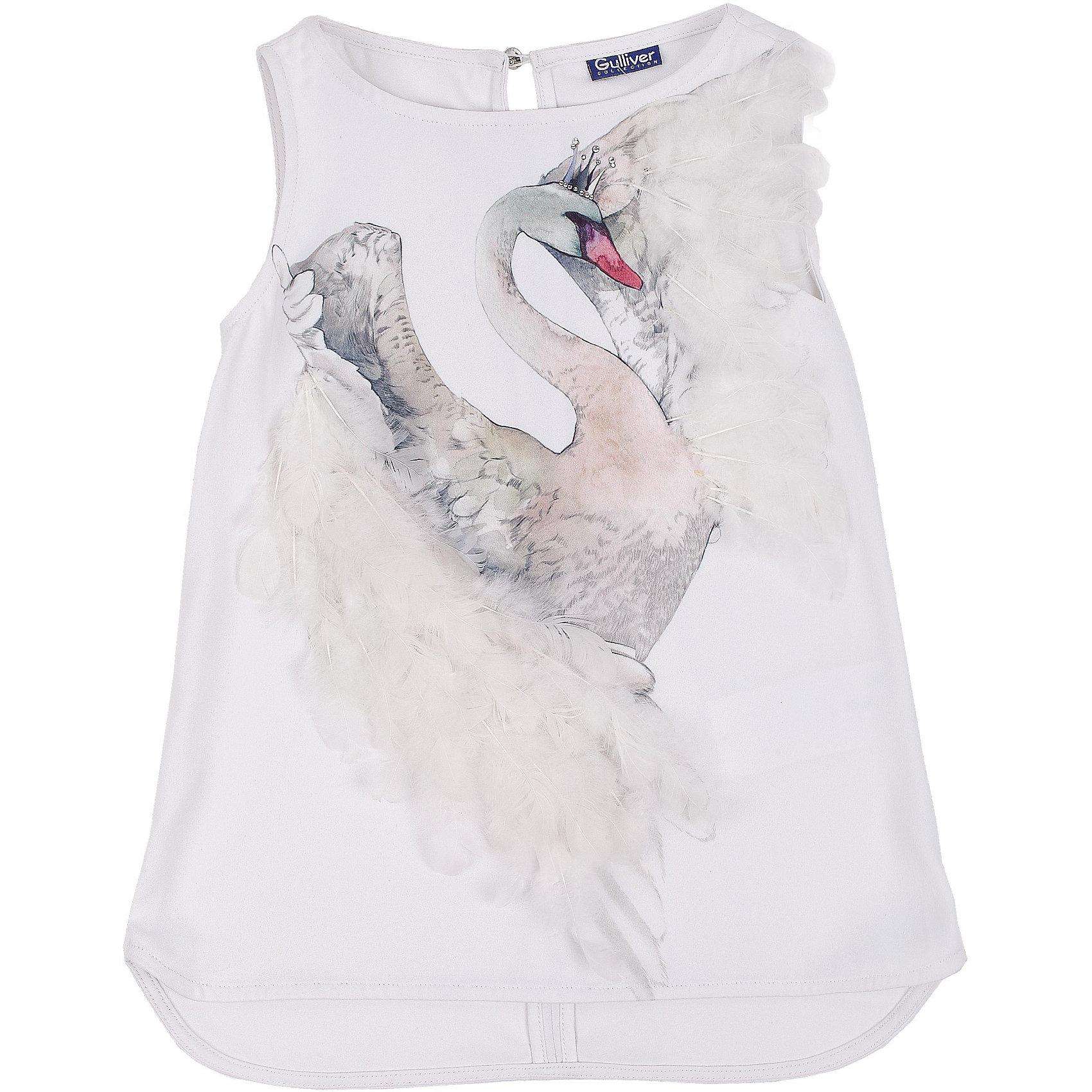 Блузка для девочки GulliverБлузки и рубашки<br>Блузка для девочки от известного бренда Gulliver.<br>Подготовка к празднику - приятные хлопоты! Если вы хотите сделать праздничный день радостным и ярким, вам стоит купить элегантную белую блузку с нежным  декором. Блузка оформлена интересным акварельным принтом, расшитым натуральными перьями. В нем легкость птичьего полета, грациозность, изящество. Конечно, такая вещь требует деликатного отношения, но ведь и праздники случаются не каждый день? Эта модель - лучший выбор блузки для девочки. Она сделает образ ребенка нежным, утонченным, изысканным.<br>Состав:<br>верх: 100% полиэстер; подкладка: 76% вискоза 19% полиэстер 5% эластан<br><br>Ширина мм: 186<br>Глубина мм: 87<br>Высота мм: 198<br>Вес г: 197<br>Цвет: белый<br>Возраст от месяцев: 132<br>Возраст до месяцев: 144<br>Пол: Женский<br>Возраст: Детский<br>Размер: 152,164,158,146<br>SKU: 5103519