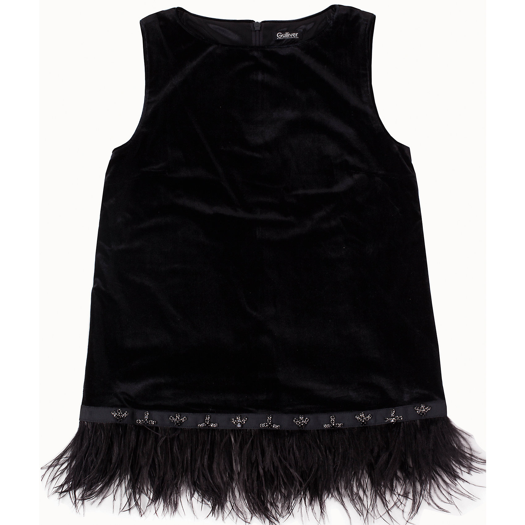 Блузка для девочки GulliverОдежда<br>Блузка для девочки от известного бренда Gulliver.<br>Ох уж, эти модницы… Их гардероб пестрит нарядами, но разве можно пройти мимо новой блузки? Оригинальные и экстравагантные блузки - предмет их особой гордости! Если вы хотите быть на одной волне с девочкой-подростком, вам стоит купить черную блузку из бархата и перьев! В компании с блестящими брюками, блузка будет выглядеть безупречно, создавая красивый благородный комплект. Также, она вполне уместна в сочетании с джинсами. Это будет выглядеть менее пафосно, но не менее стильно и привлекательно!<br>Состав:<br>верх: 95% полиэстер 5% эластан; подкладка: 100% полиэстер<br><br>Ширина мм: 186<br>Глубина мм: 87<br>Высота мм: 198<br>Вес г: 197<br>Цвет: черный<br>Возраст от месяцев: 132<br>Возраст до месяцев: 144<br>Пол: Женский<br>Возраст: Детский<br>Размер: 152,164,146,158<br>SKU: 5103524