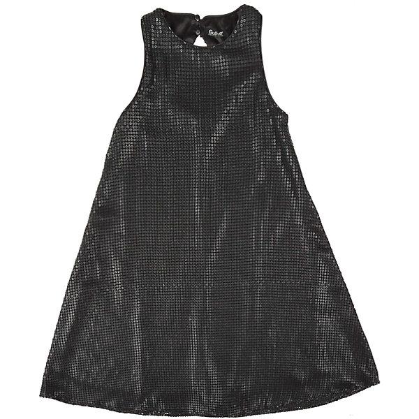 Нарядное платье для девочки GulliverОдежда<br>Платье для девочки от известного бренда Gulliver.<br>Легкое  трапециевидное платье из черных пайеток смотрится безупречно! Деликатный блеск, идеальная форма модели - такими и должны быть модные нарядные платья без лишнего пафоса.<br>Состав:<br>верх: 100% полиэстер; подкладка: 100% полиэстер<br><br>Ширина мм: 236<br>Глубина мм: 16<br>Высота мм: 184<br>Вес г: 177<br>Цвет: серый<br>Возраст от месяцев: 144<br>Возраст до месяцев: 156<br>Пол: Женский<br>Возраст: Детский<br>Размер: 158,152,146,164<br>SKU: 5103539