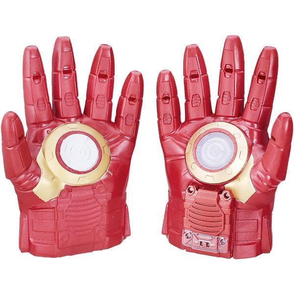 Перчатки Hasbro Мстители Железный человекПопулярные игрушки<br>Характеристики товара:<br><br>• возраст: от 5 лет;<br>• материал: пластик;<br>• в комплекте: 2 перчатки;<br>• тип батареек: 1 батарейка ААА;<br>• наличие батареек: в комплекте;<br>• размер упаковки: 21,6х31,8х8,3 см;<br>• вес упаковки: 549 гр.;<br>• страна производитель: Китай.<br><br>Перчатки Железного Человека Hasbro представляют собой копию перчаток одного из самых популярных супергероев команды Мстителей Железного Человека. Они обязательно понравятся юному поклоннику известного супергероя. С ними мальчики могут устроить захватывающие сражения, придумать игры или воспроизводить сцены из фильма.<br><br>Одна из перчаток оснащена световыми и звуковыми эффектами, что делает игру еще увлекательней. Перчатки выполнены из качественного прочного пластика.<br><br>Перчатки Железного Человека Hasbro B0429 можно приобрести в нашем интернет-магазине.<br>Ширина мм: 318; Глубина мм: 218; Высота мм: 86; Вес г: 451; Возраст от месяцев: 60; Возраст до месяцев: 2147483647; Пол: Мужской; Возраст: Детский; SKU: 5104310;