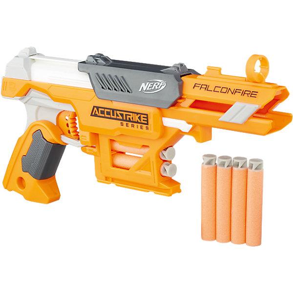 Бластер Nerf Hasbro Аккустрайк ФалконфайрИгрушечные пистолеты и бластеры<br>Характеристики:<br><br>• возраст: от 8 лет;<br>• материал: пластик;<br>• в комплекте: бластер, 6 стрел;<br>• размер упаковки: 35,6х25,4х5,4 см;<br>• вес упаковки: 528 гр.;<br>• страна производитель: Китай.<br><br>Бластер «Аккустрайк Фалконфайр» Nerf Hasbro позволит устроить захватывающие сражения или соревнования по стрельбе. У бластера удобная рукоять и прицел. Внизу расположен небольшой отсек, где можно хранить несколько патронов. В комплект входят 6 стрел. У всех стрел мягкий наконечник, что исключает травмы во время игры.<br><br>Бластер «Аккустрайк Фалконфайр» Nerf Hasbro можно приобрести в нашем интернет-магазине.<br><br>Ширина мм: 359<br>Глубина мм: 255<br>Высота мм: 58<br>Вес г: 451<br>Возраст от месяцев: 96<br>Возраст до месяцев: 2147483647<br>Пол: Мужской<br>Возраст: Детский<br>SKU: 5104312