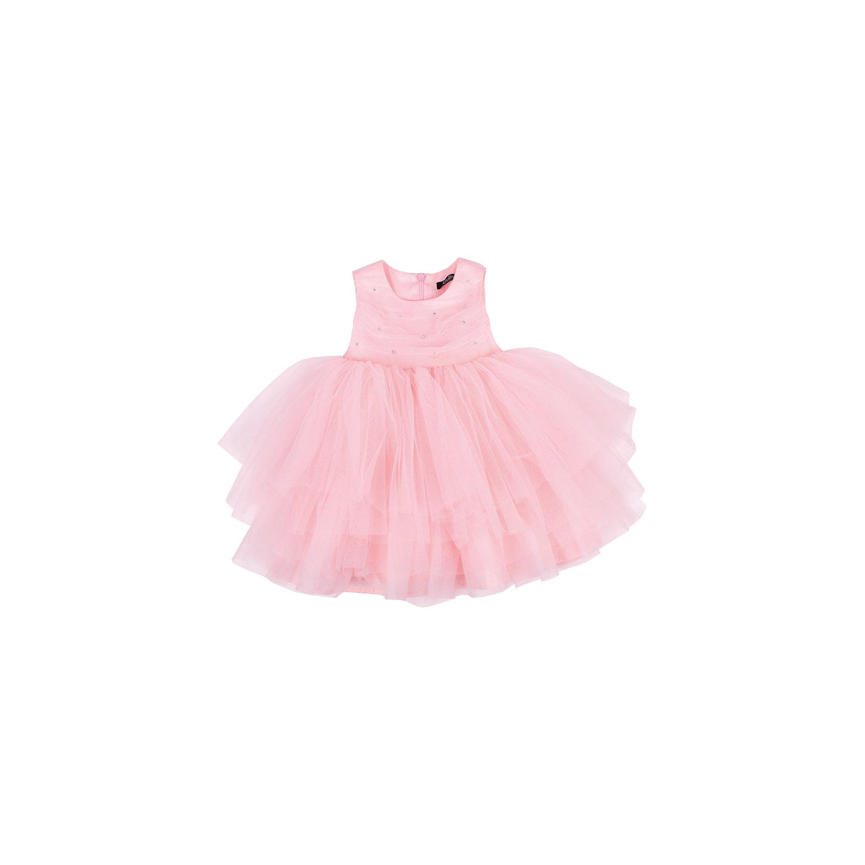 Нарядное платье для девочки GulliverПлатье для девочки от известного бренда Gulliver.<br>Несмотря на то, что основной гардероб юной модницы пока составляют ползунки и боди, красивые платья уже ждут свое законное место в шкафу малышки. Нарядные платья для девочек - символ женственности и кокетства! И даже если юная принцесса еще совсем мала, в красивом платье она чувствует себя неотразимой! Если вы хотите сделать праздник своего ребенка ярким и запоминающимся, вам нужно купить  платье! Сочетание лифа, украшенного стразами и пышной юбки из сетки делает платье изящным, легким и воздушным.<br>Состав:<br>верх: 100% полиэстер; подкладка: 100% хлопок<br><br>Ширина мм: 236<br>Глубина мм: 16<br>Высота мм: 184<br>Вес г: 177<br>Цвет: розовый<br>Возраст от месяцев: 12<br>Возраст до месяцев: 15<br>Пол: Женский<br>Возраст: Детский<br>Размер: 86,80,92<br>SKU: 5104358