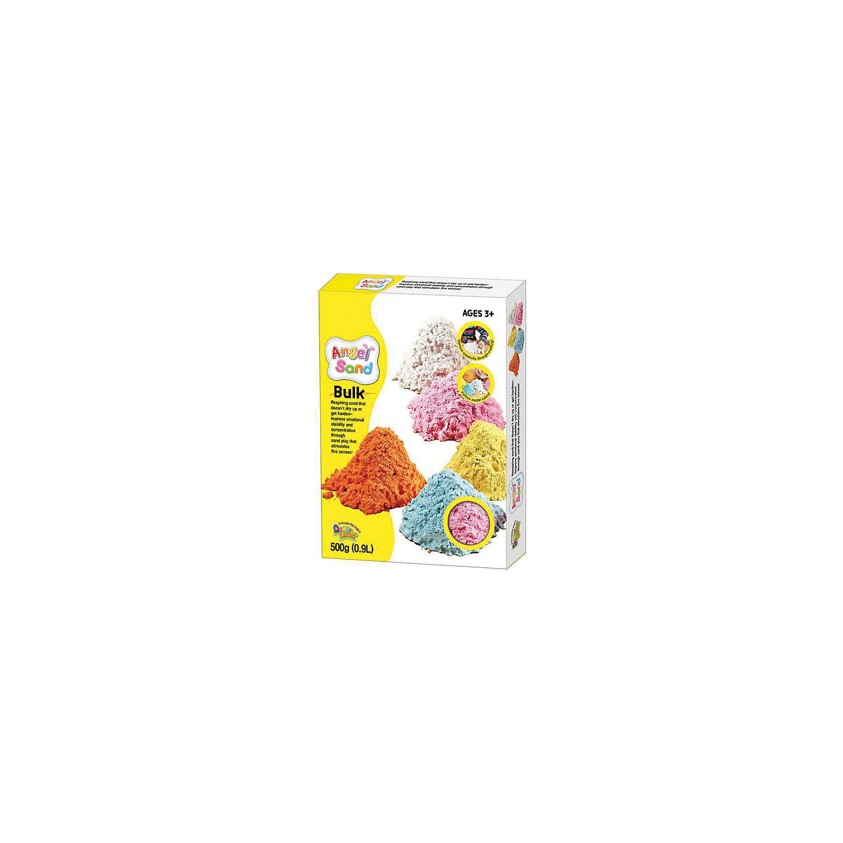 Набор для творчества Angel Sand 0,9 л (розовая)Кинетический песок<br>Характеристики товара:<br><br>• цвет: розовый<br>• не имеет резкого запаха<br>• легко принимает любую форму<br>• возраст: 3+<br>• состав: минеральный песок, глицерин, полимеры, антибактериальные добавки<br>• объем: 0,9 л<br>• комплектация: песок, коробка, инструкция<br>• страна производства: Корея<br><br>Игры с песком не только веселое, но и достаточно полезное занятие. Формование фигурок и перебирание песчинок развивает мелкую моторику малыша. Но песочницы доступны только в теплое время года. В холодное на помощь приходят домашние наборы песка и формочек. В отличие от уличного, песок из набора чистый и окрашен в разные цвета. Материалы, использованные при изготовлении товара, сертифицированы и отвечают всем международным требованиям по качеству. <br><br>Набор «Набор для творчества Angel Sand 0,9 л (розовая)» можно приобрести в нашем интернет-магазине.<br><br>Ширина мм: 140<br>Глубина мм: 200<br>Высота мм: 60<br>Вес г: 900<br>Возраст от месяцев: 36<br>Возраст до месяцев: 2147483647<br>Пол: Унисекс<br>Возраст: Детский<br>SKU: 5104615