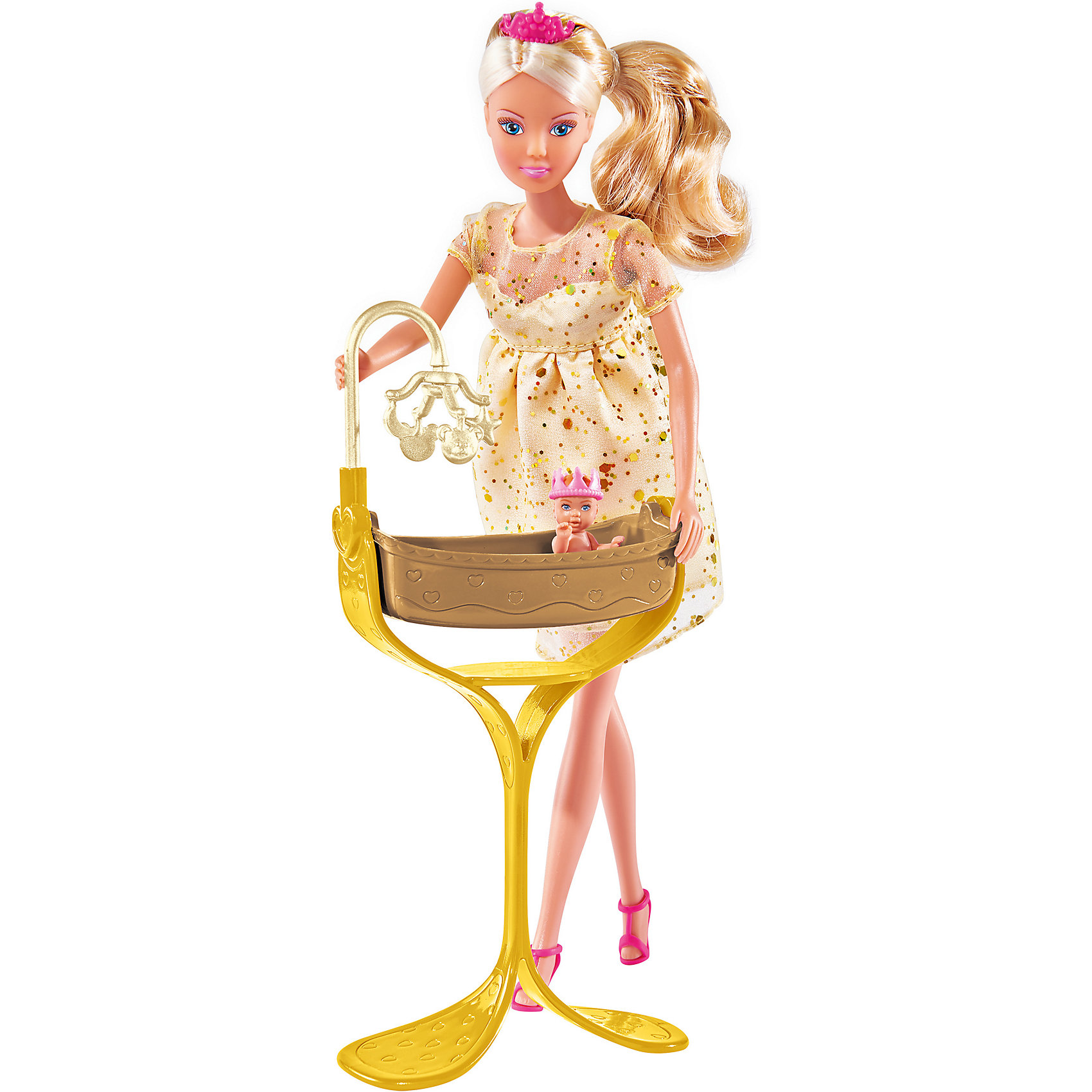 Кукла Штеффи беременная, 29 см, SimbaКуклы<br>Характеристики товара:<br><br>- цвет: разноцветный;<br>- материал: пластик;<br>- возраст: от трех лет;<br>- комплектация: кукла, аксессуары, пупс;<br>- высота куклы: 29 см.<br><br>Эта симпатичная кукла Штеффи от известного бренда не оставит девочку равнодушной! Какая девочка сможет отказаться поиграть с куклами, которые дополнены набором в виде ребенка и предметов для него?! В набор входят аксессуары для игр с куклой. Игрушка очень качественно выполнена, поэтому она станет замечательным подарком ребенку. <br>Продается набор в красивой удобной упаковке. Изделие произведено из высококачественного материала, безопасного для детей.<br><br>Куклу Штеффи беременная от бренда Simba можно купить в нашем интернет-магазине.<br><br>Ширина мм: 333<br>Глубина мм: 182<br>Высота мм: 66<br>Вес г: 305<br>Возраст от месяцев: 36<br>Возраст до месяцев: 72<br>Пол: Женский<br>Возраст: Детский<br>SKU: 5104806