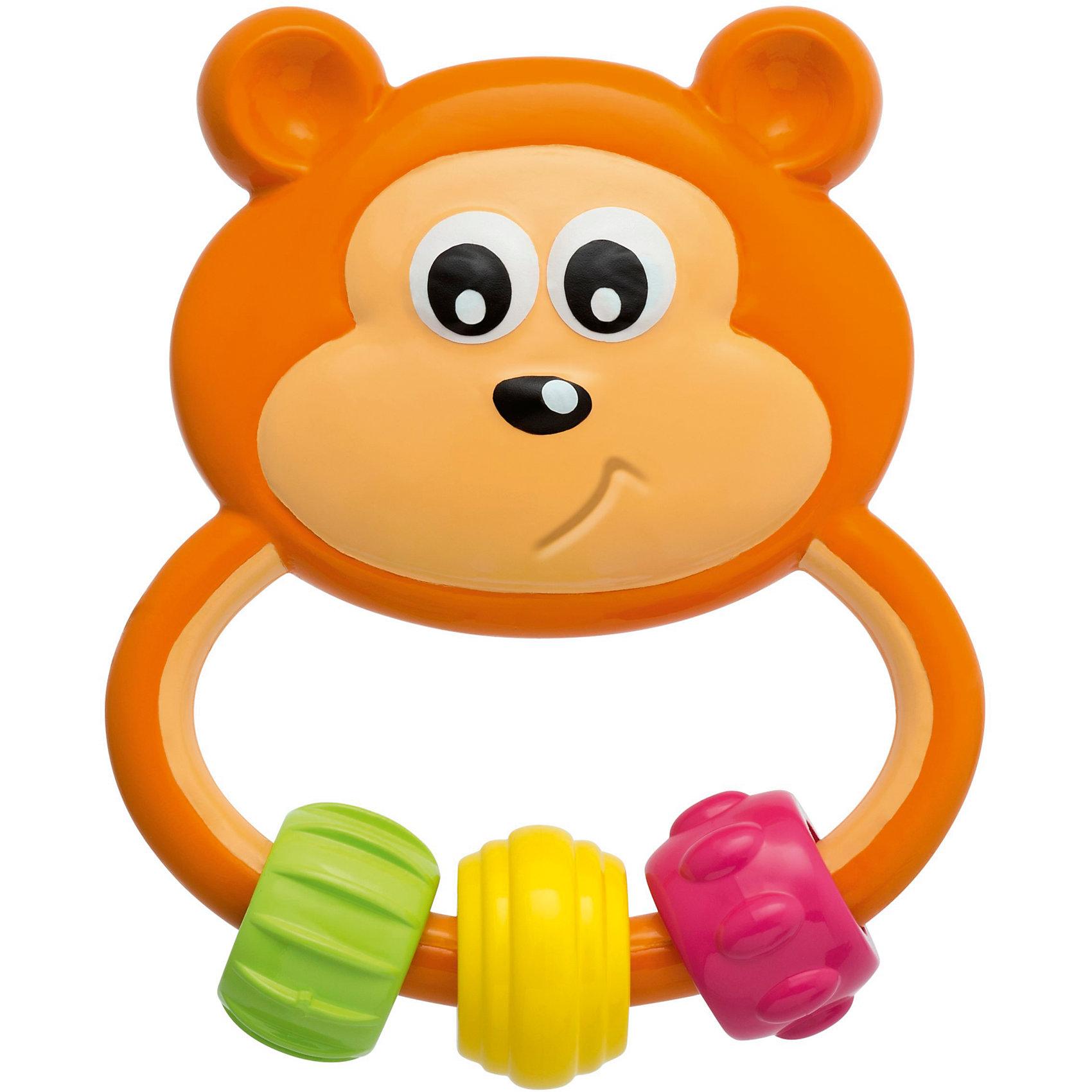 Игрушка-погремушка Медвежонок , ChiccoИгрушка-погремушка Медвежонок, Chicco (Чикко).<br><br>Характеристики: <br><br>• Размер: 2*8*10 см.<br>• Цвет: коричневый.<br>• Материал: гипоаллергенная пластмасса.<br>• Вес: 60г.<br><br>Игрушка-погремушка Медвежонок от известного итальянского бренда Chicco обязательно заинтересует вашего малыша. Забавный задумчивый медвежонок, разработан специально для малышей в возрасте от трех месяцев. Малый вес игрушки, эргономичная ручка, материал высокого качества – это отличительные особенности данной погремушки. На ручке у Медвежонка Chicco подвешены три подвижные детали разного цвета и фактуры, которые будут отлично развивать мелкую моторику ребенка и облегчат состояние во время прорезывания зубов. Такая игрушка развивает зрительное и слуховое восприятие, а также хватательный рефлекс вашего крохи. <br><br>Игрушку - погремушку Медвежонок, Chicco (Чикко), можно купить в нашем интернет-магазине.<br><br>Ширина мм: 180<br>Глубина мм: 146<br>Высота мм: 30<br>Вес г: 63<br>Возраст от месяцев: 3<br>Возраст до месяцев: 36<br>Пол: Унисекс<br>Возраст: Детский<br>SKU: 5105197