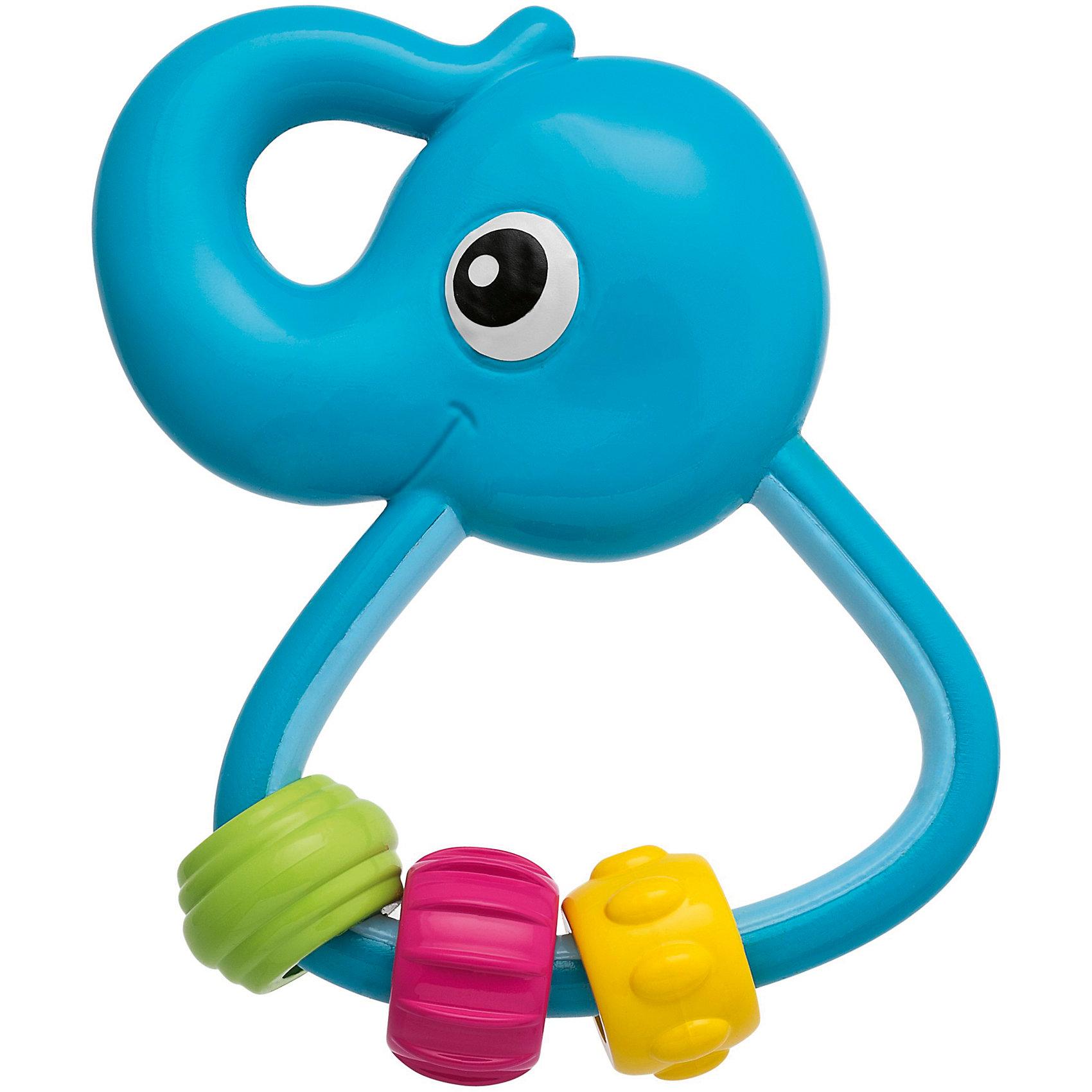 Игрушка-погремушка Слоненок , ChiccoПогремушки<br>Игрушка-погремушка Слоненок (Чикко).<br><br>Характеристики: <br><br>• Размер: 2*8*10 см.<br>• Цвет: голубой.<br>• Материал: гипоаллергенная пластмасса.<br>• Вес: 60г.<br><br>Игрушка-погремушка Слоненок от известного итальянского бренда Chicco обязательно заинтересует вашего малыша. Забавный слоненок, разработан специально для малышей в возрасте от трех месяцев. Малый вес игрушки, эргономичная ручка, материал высокого качества – это отличительные особенности данной погремушки. На ручке у Слоненка Chicco подвешены три подвижные детали разного цвета и фактуры, которые будут отлично развивать мелкую моторику ребенка и облегчат состояние во время прорезывания зубов. Такая игрушка развивает зрительное и слуховое восприятие, а также хватательный рефлекс вашего крохи. <br><br>Игрушку - погремушку Слоненок, Chicco (Чикко), можно купить в нашем интернет-магазине.<br><br>Ширина мм: 146<br>Глубина мм: 180<br>Высота мм: 30<br>Вес г: 59<br>Возраст от месяцев: 3<br>Возраст до месяцев: 36<br>Пол: Унисекс<br>Возраст: Детский<br>SKU: 5105198