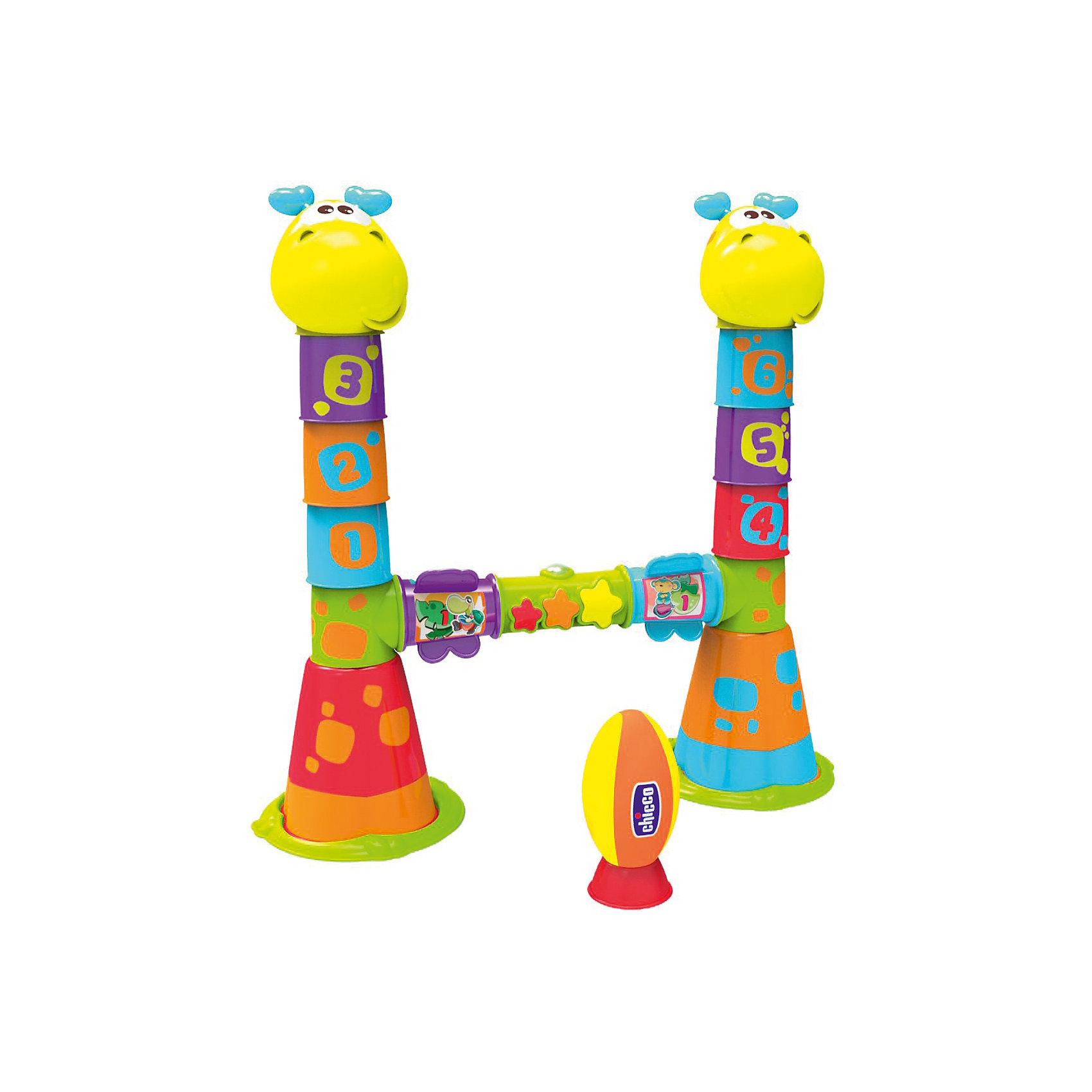 Игровой центр Регби Fit&amp;Fun, ChiccoИгровые столики и центры<br>Игровой центр Регби Fit&amp;Fun, Chicco (Чикко).<br><br>Характеристики:<br><br>• Размеры, мм: 565x161x385<br>• Питание: 3 AA.<br>• Количество батареек: 3.<br>• Вес в упаковке, г: 2450.<br>• Цвет: разноцветный.<br><br>Отличная игрушка для активного и динамичного времяпровождения! 3 режима игры: - построй башню! - пройди полосу препятствий: тренируйся, чтобы стать чемпионом! - играй в регби! Вы можете провести настоящие соревнования по регби! Детки бегают, тренируются, а главное, учатся работать в команде. Когда они забивают голы, активируются световые и звуковые эффекты. Табло, расположенное на перекладине, поможет вести счет и быть честными судьями. Встречайтесь чаще с друзьями и их малышами, болейте за свои любимые команды! <br><br>Игровой центр Регби Fit&amp;Fun, Chicco (Чикко), можно купить в нашем интернет – магазине.<br><br>Ширина мм: 560<br>Глубина мм: 175<br>Высота мм: 380<br>Вес г: 2440<br>Возраст от месяцев: 18<br>Возраст до месяцев: 60<br>Пол: Унисекс<br>Возраст: Детский<br>SKU: 5105199