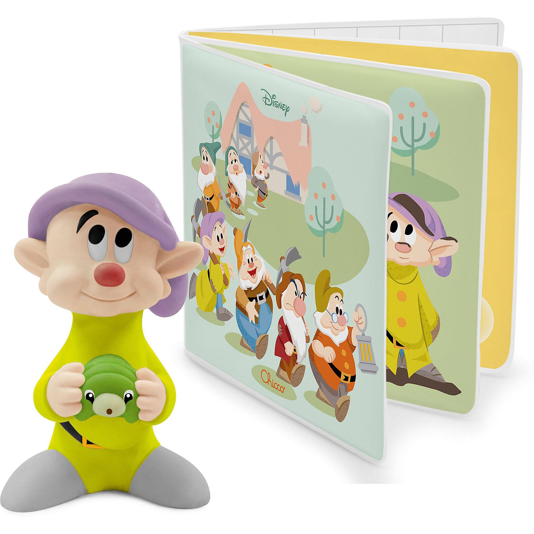 CHICCO Книжка-игрушка для ванны 7 гномов, Chicco кукольные домики chicco домик белоснежка и 7 гномов