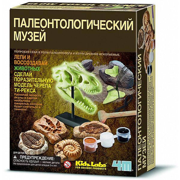 Палеонтологический музей, 4MНаборы для раскопок<br>Палеонтологический музей – удивительное место, где хранятся окаменевшие тайны древности. Именно там можно увидеть скелеты существ, обитавших на Земле много миллионов лет назад. Эти экспонаты поражают воображение и оставляют неизгладимое впечатление, граничащее с трепетом и восторгом.<br><br>Прикоснитесь к загадкам далекого прошлого с набором «Палеонтологический музей»  от 4М! Откопайте, слепите и воссоздайте потрясающих доисторических существ. Ведь «Палеонтологический музей» – это целая коллекция увлекательных научных и творческих экспериментов.<br><br>Древние находки легко превратятся в необычную подвеску, сувенирные магниты и оригинальное украшения для комнаты. А главное, что каждый экспонат вашего музея будет эффектно светиться в темноте.<br><br>Ширина мм: 215<br>Глубина мм: 170<br>Высота мм: 60<br>Вес г: 621<br>Возраст от месяцев: 96<br>Возраст до месяцев: 2147483647<br>Пол: Унисекс<br>Возраст: Детский<br>SKU: 5105205