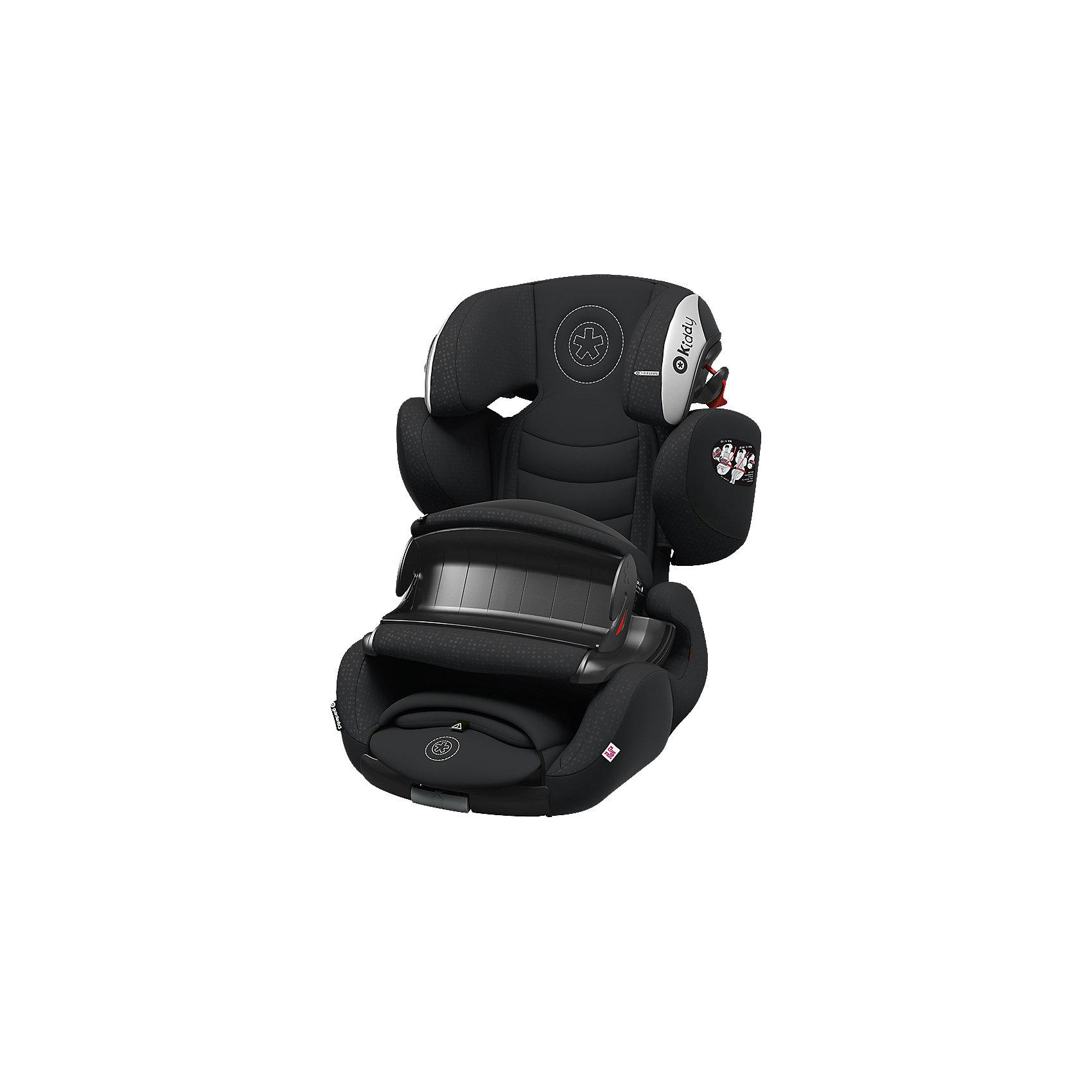 Автокресло Kiddy Guardianfix 3, 9-36кг., Onyx BlackГруппа 1-2-3 (От 9 до 36 кг)<br>Kiddy GuardianFix 3(Кидди Гардианфикс 3) – детское автомобильное кресло гр. 123 со столиком безопасности и свободной регулировкой по углу наклона, оснащено креплениями Isofix, подходит детям от 9 мес. до 12 лет (9-36 кг), ростом от 75 до 150 см. Характеристики этой модели обеспечивают ребенку комфорт в длительных поездках и повышенную безопасность в аварийных ситуациях.Для самых маленьких в гр. 1 предусмотрена фиксация с помощью столика безопасности. Характеристики: анатомическая форма кресла позволяет ребенку наслаждаться путешествиями с комфортом;<br>Ортопедический корпус из пластика повышенной прочности обеспечивает максимум безопасности;<br>Амортизирующие прослойки и форма корпуса помогают в правильном формировании осанки у ребенка;<br>Спинка автокресла регулируется по углу наклона благодаря плавающему креплению и выдвижным изофикс;<br>Регулируемый плечевой щит настраивается по росту с подголовником и фиксируется в одном из семи положений;<br>Направляющие в подголовнике отвечает за правильное размещение ремня автомобиля на плече и грудной клетке ребенка;<br>Дышащий материал сиденья впитывает влагу, устойчив к загрязнениям и препятствует впитыванию посторонних запахов;<br>Износостойкая отделка автокресла с вентилируемой спинкой при необходимости снимается для деликатной стирки.<br><br>Ширина мм: 710<br>Глубина мм: 500<br>Высота мм: 490<br>Вес г: 10250<br>Цвет: черный<br>Возраст от месяцев: 9<br>Возраст до месяцев: 144<br>Пол: Унисекс<br>Возраст: Детский<br>SKU: 5105430