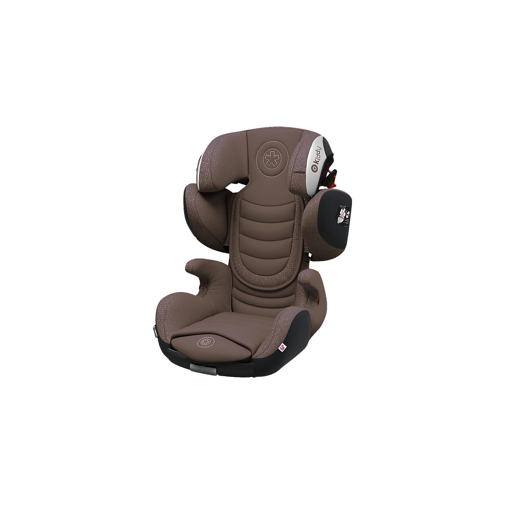Автокресло Kiddy Cruiserfix 3, 15-36кг., Nougat BrownГруппа 2-3 (От 15 до 36 кг)<br>Kiddy Cruiserfix 3 - детское автосиденье, обеспечивающее безопасность ребенку возрастом от 4 до 12 лет по максимально возможным показателям защиты из всех, какие только можно представить.Улучшенная защита при боковом ударе (Side Impact Protection).Амортизатор Кидди (Kiddy Shock Absorber).Дышащее волокно Thermotex.Удобные подлокотники.Универсальная конструкция механизма рамы позволяет одним действием руки изменить размер автокресла, подогнав его до подходящих размеров для всех детей возрастной категории 2/3. При увеличении высоты подголовника, кресло одновременно раздвигается в ширину.Система креплений K-fix:такой тип присоединения хорош тем, что фитинги легко можно убирать, чтобы использовать сиденье в машинах, не имеющих систему Isofix.Прочный съемный чехол можно стирать при  30°С .<br>Вес:7,6кг<br>Внешние размеры кресла:<br>Высота 65-83см<br>Ширина 55-64см<br>Глубина 45-50см<br>Внутренние размеры кресла:<br>Ширина подголовника 21см<br>Ширина плечевой зоны 31-41см<br>Ширина тазовой области 30см<br>Высота спинки 37-55см<br>Глубина сидушки 37-42см<br>Углы наклона 90-115 градусов (в зависимости от типа автомобиля)<br><br>Ширина мм: 734<br>Глубина мм: 524<br>Высота мм: 507<br>Вес г: 9120<br>Цвет: коричневый<br>Возраст от месяцев: 36<br>Возраст до месяцев: 144<br>Пол: Унисекс<br>Возраст: Детский<br>SKU: 5105436