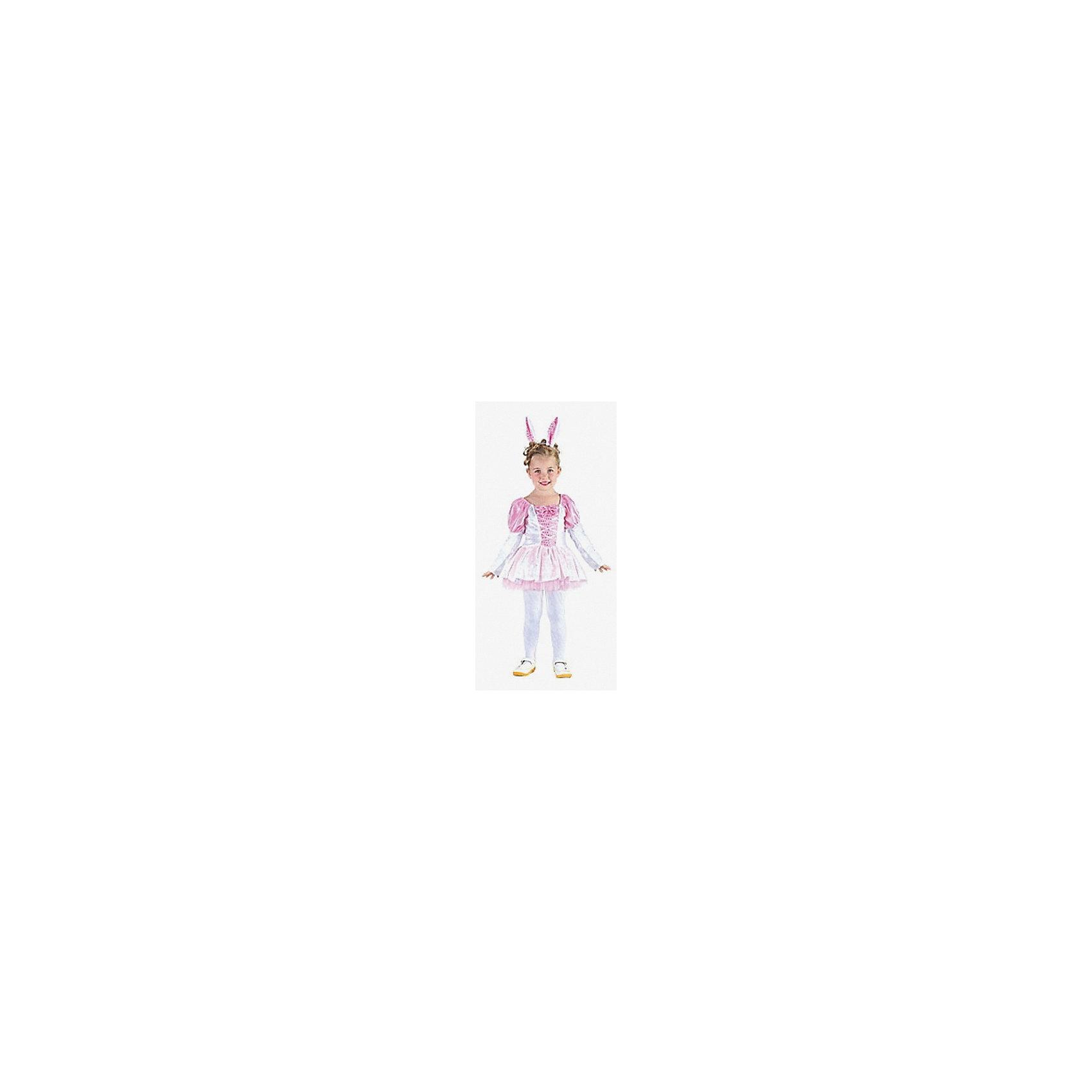 Карнавальный костюм Зайчик, MARKO FERENZOХарактеристики карнавального костюма Зайчик, Marko Ferenzo:<br><br>- пол: для девочек<br>- комплект: платье, ободок.<br>- материал: текстиль, пластик.<br>- размер упаковки: 31 * 24 * 4 см.<br>- упаковка: пакет.<br>- подходящий рост ребенка: 92-104 см.<br>- размер: м.<br><br>Карнавальный костюм для девочек Зайчик - это роскошное платьице нежного розового цвета и ободок с милыми заячьими ушками. Нарядившись в такую красоту, девочка обязательно понравится всем присутствующим, ведь забавнее зайчика сложно будет представить. Костюм подойдет для самых разных праздников, будь то утренник, карнавал, день рождения или любой другой.<br>Платье сделано из текстиля, который приятен на ощупь и не вызывает дискомфорта.<br><br>Карнавальный костюм Зайчик торговой марки Marko Ferenzo можно купить в нашем интернет-магазине.<br><br>Ширина мм: 450<br>Глубина мм: 500<br>Высота мм: 30<br>Вес г: 7<br>Возраст от месяцев: 36<br>Возраст до месяцев: 96<br>Пол: Женский<br>Возраст: Детский<br>SKU: 5105637