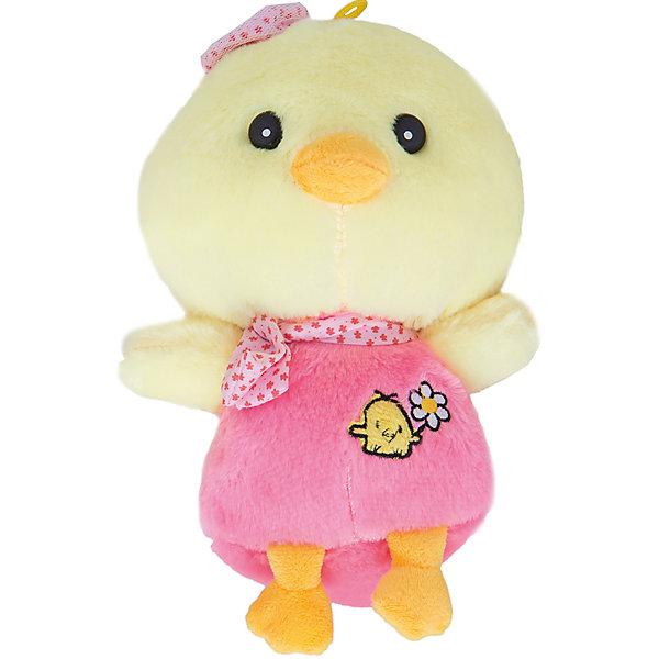 Мягкая игрушка Цыпленок Вася 20 см , ПУФФИМягкие игрушки животные<br>Характеристики мягкой игрушки Цыпленок Вася: <br><br>- возраст: от 3 лет<br>- пол: для девочек<br>- цвет: желтый и розовый <br>- материал: текстиль, полиэфирное волокно, пластик.<br>- высота игрушки: 20 см.<br>- страна обладатель бренда: Россия.<br><br>Мягкая игрушка Цыпленок Вася торговой марки Пуффи - это забавная игрушка, которая создана для детей старше 3 лет. Особенности: Милый цыпленок обязательно понравится Вашему малышу. Игрушка способствует развитию воображения и тактильной чувствительности у детей. Изделие изготовлено из качественных материалов, которые абсолютно безвредны для ребенка. Высота игрушки: 20 см.<br><br>Мягкую игрушку Цыпленок Вася торговой  марки Пуффи можно купить в нашем интернет-магазине.<br>Ширина мм: 240; Глубина мм: 190; Высота мм: 10; Вес г: 200; Возраст от месяцев: 36; Возраст до месяцев: 192; Пол: Женский; Возраст: Детский; SKU: 5105638;